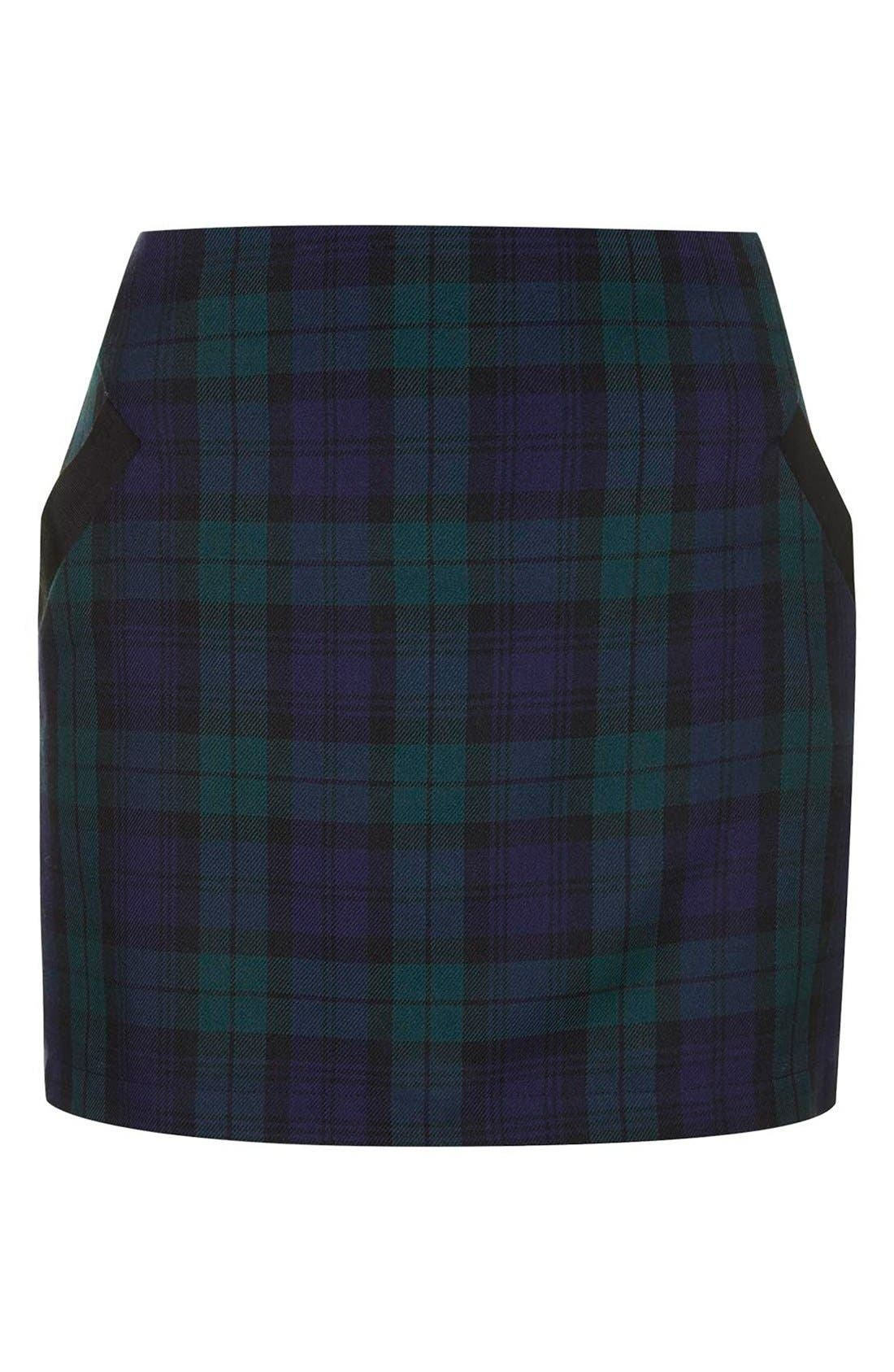 Alternate Image 3  - Topshop Plaid Miniskirt