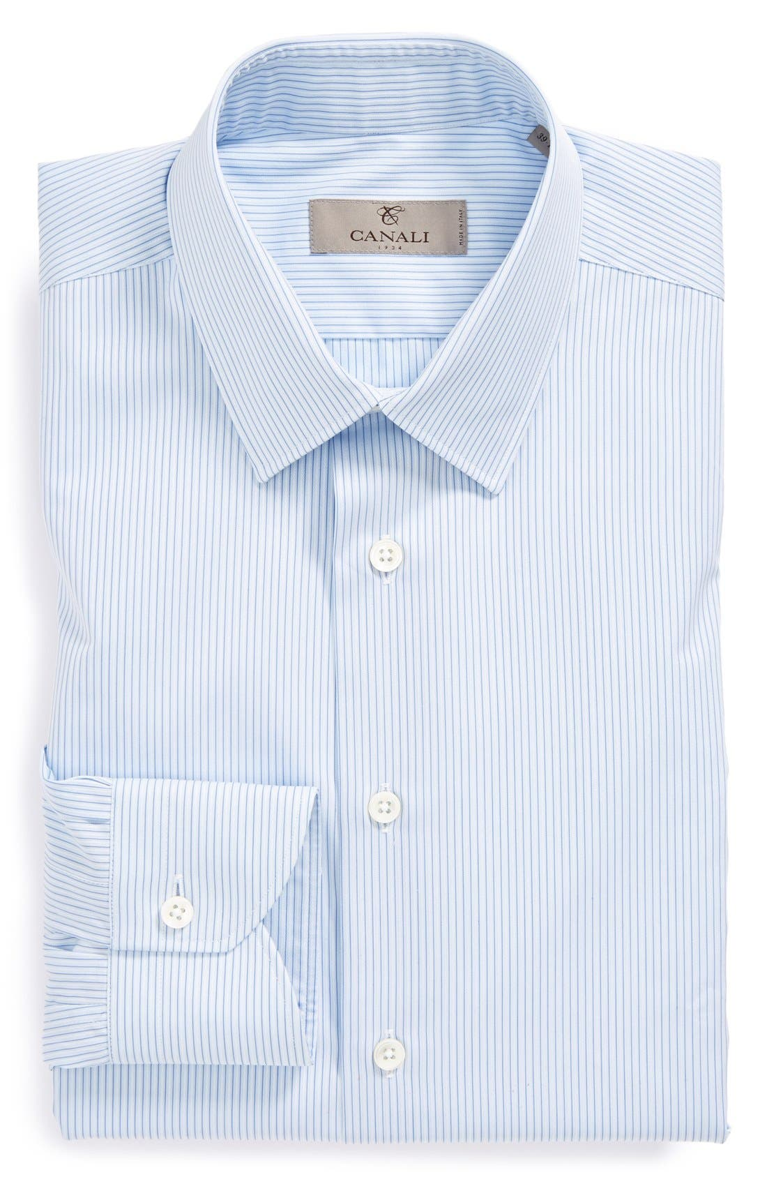Alternate Image 1 Selected - Canali Regular Fit Stripe Dress Shirt