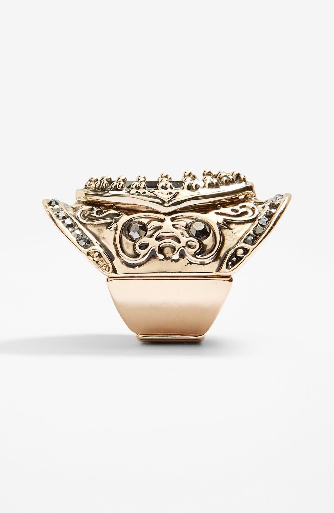 Alternate Image 2  - Spring Street 'Throne' Stretch Shield Ring