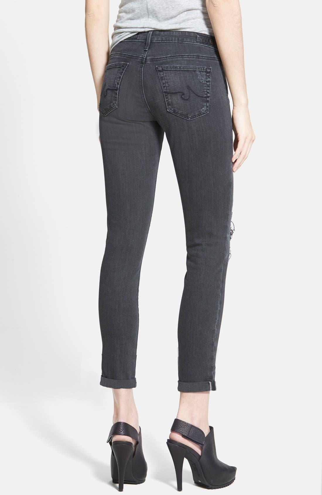 Alternate Image 2  - AG 'The Stilt' Cuffed Cigarette Jeans (Mantra Mended)