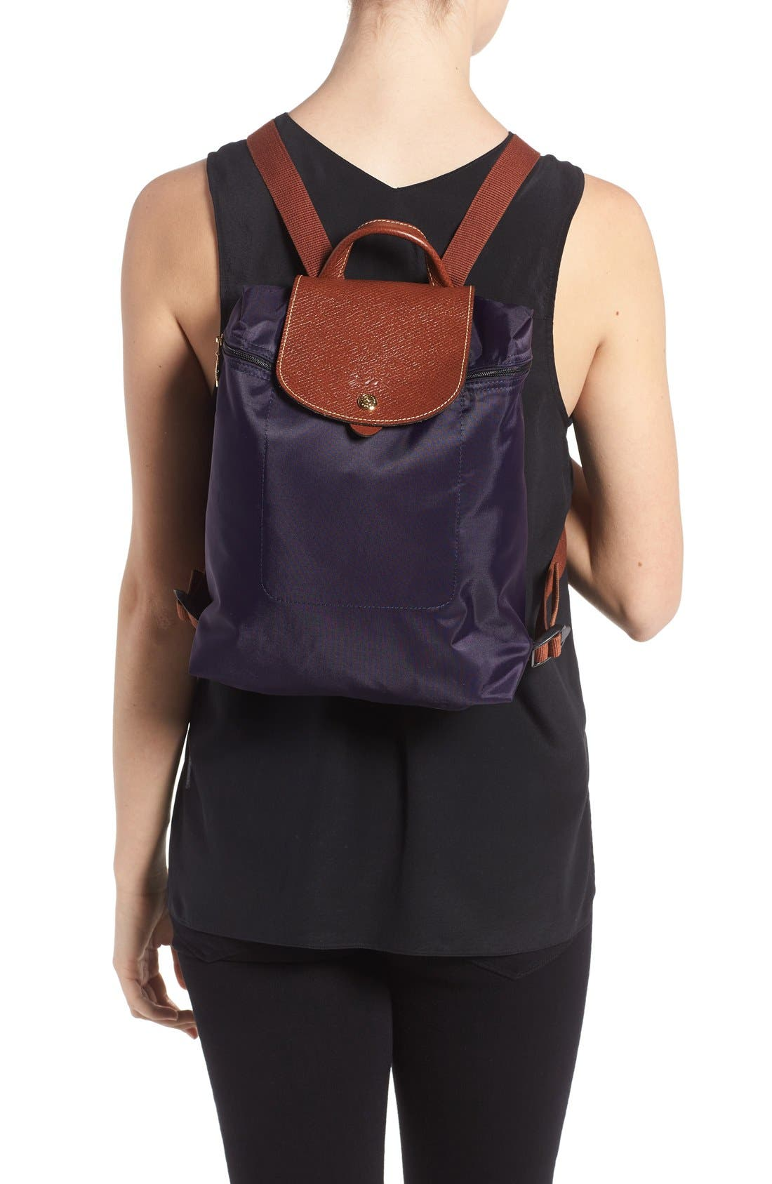 'Le Pliage' Backpack,                             Alternate thumbnail 2, color,                             Bilberry