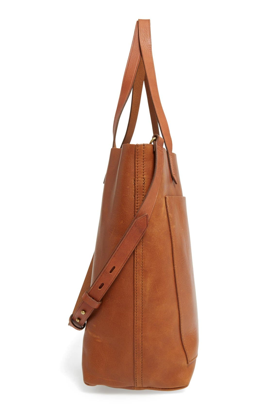 Alternate Image 5  - Madewell Medium Leather Transport Tote