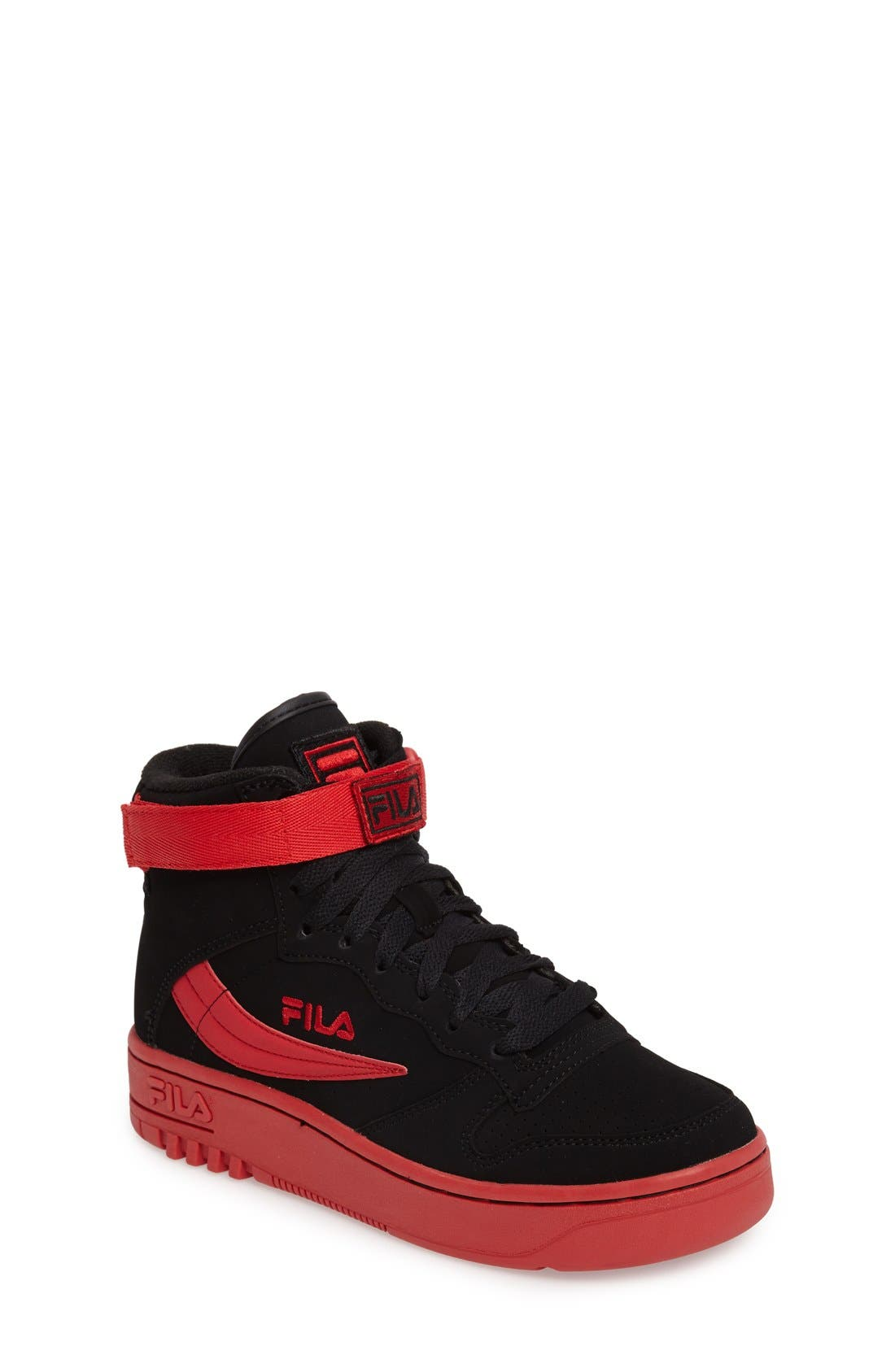 USA FX-100 High Top Sneaker,                             Main thumbnail 1, color,                             Black/ Red