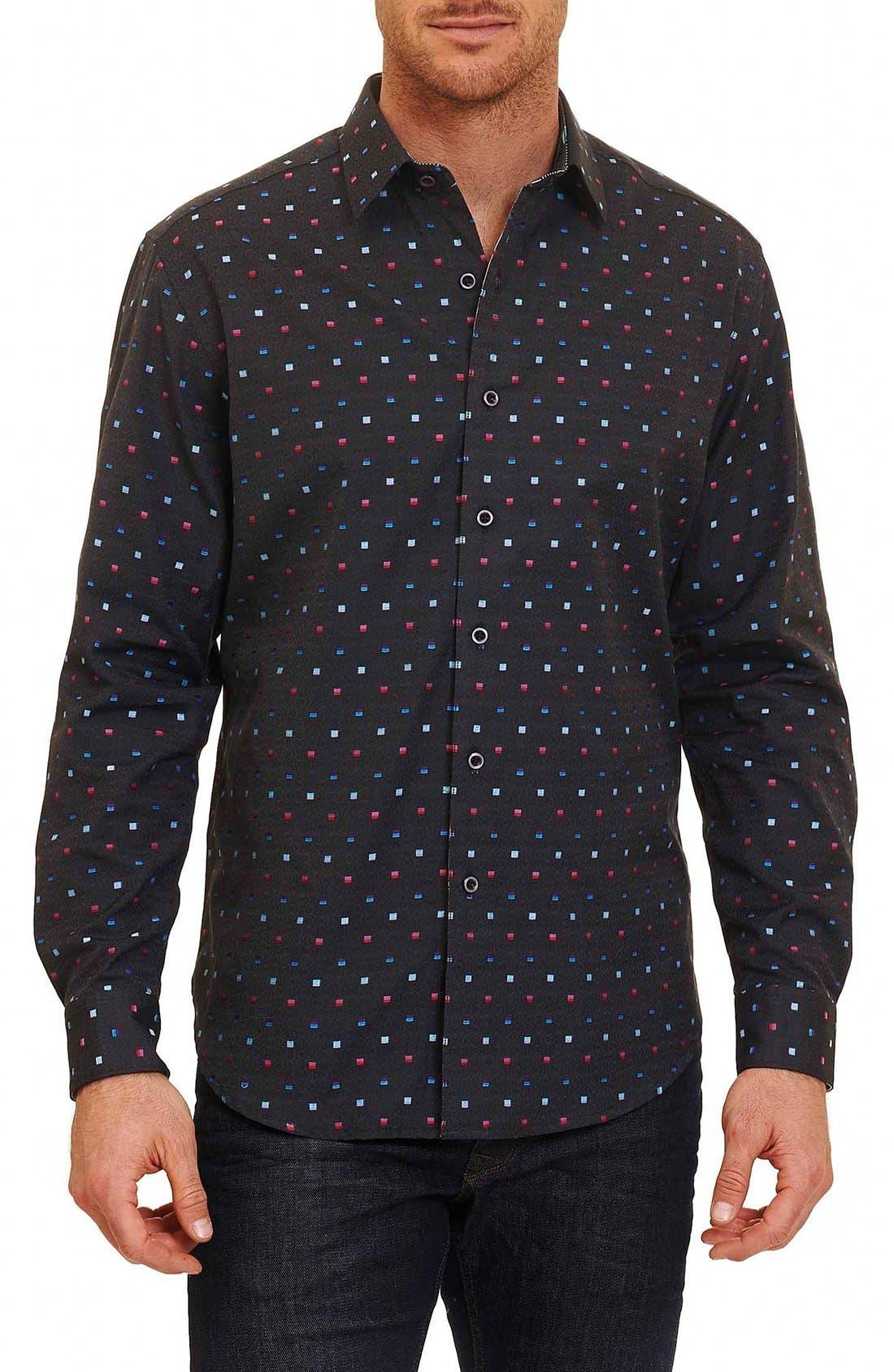 Orion Arm Classic Fit Sport Shirt,                         Main,                         color, Charcoal