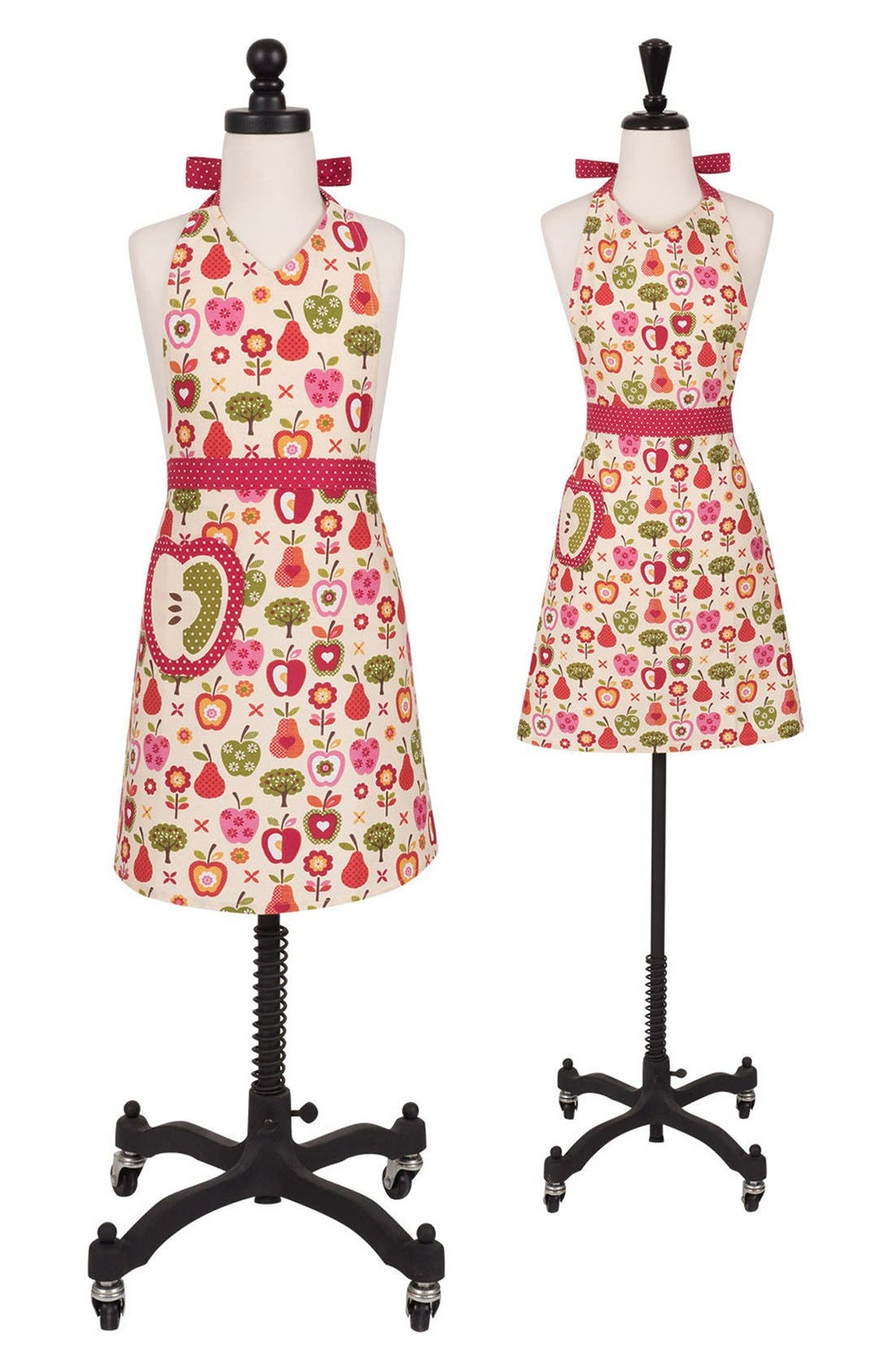Alternate Image 1 Selected - Handstand Kitchen Apple a Day Adult & Kid Apron Set