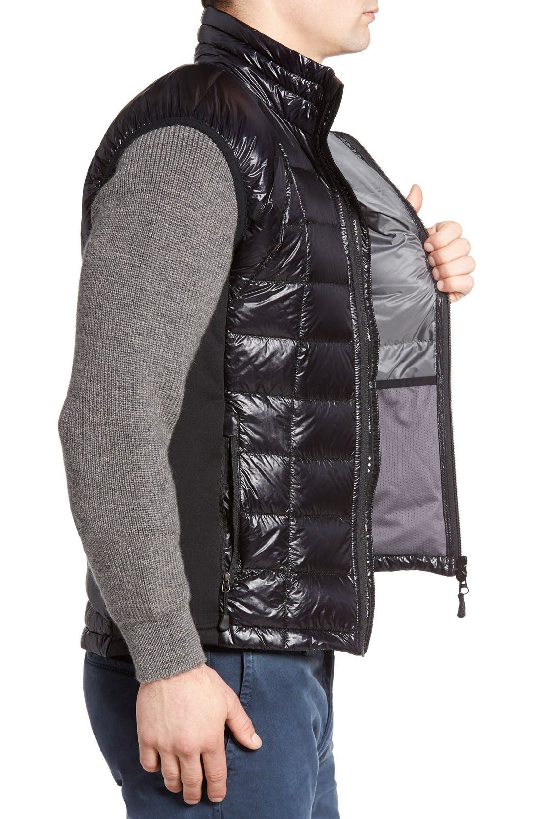 'Hybridge<sup>™</sup> Lite' Slim Fit Packable Quilted 800-Fill Down Vest,                             Alternate thumbnail 4, color,                             Black
