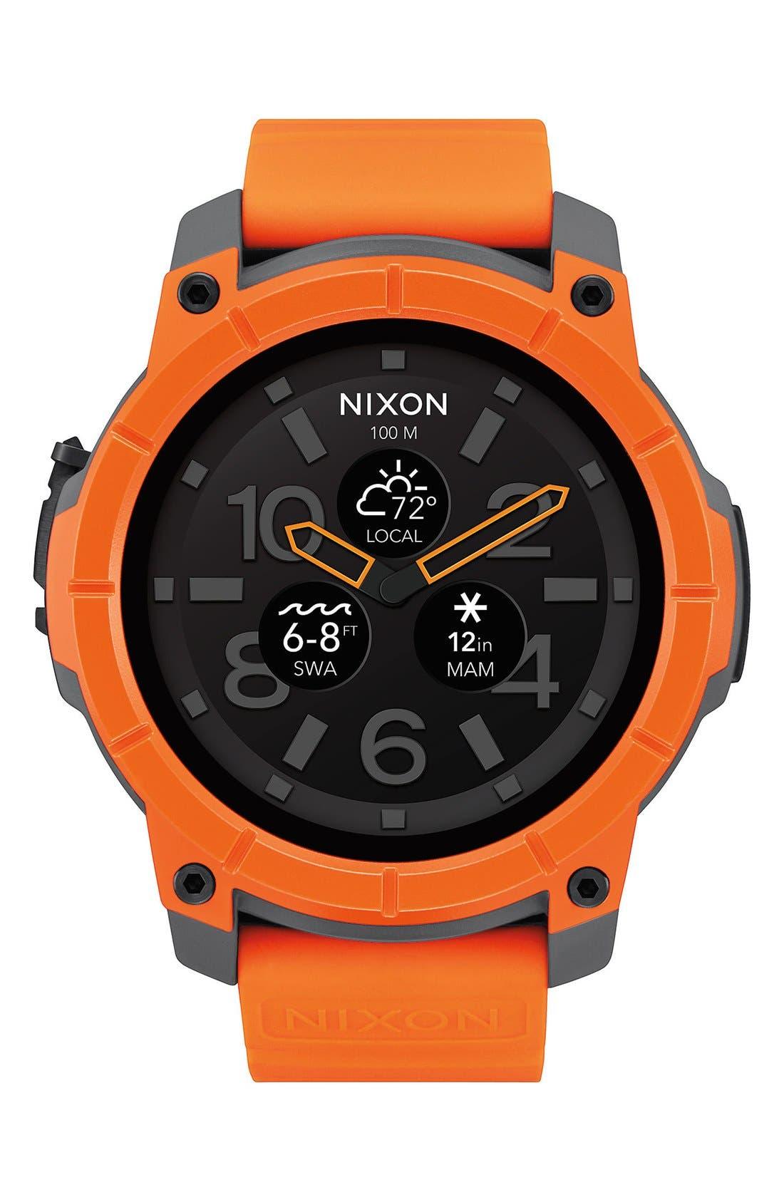 Mission Ana-Digi Smart Watch, 48mm,                             Main thumbnail 1, color,                             Orange/ Black