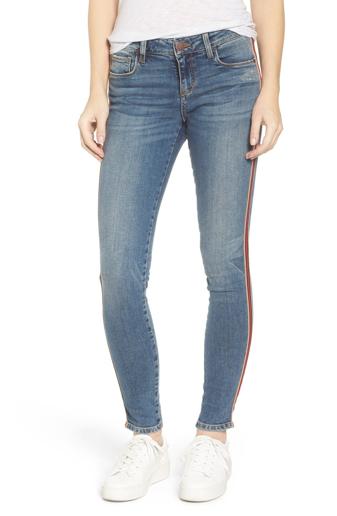 Alternate Image 1 Selected - STS Blue Piper Athletic Stripe Skinny Jeans (West Oakville)