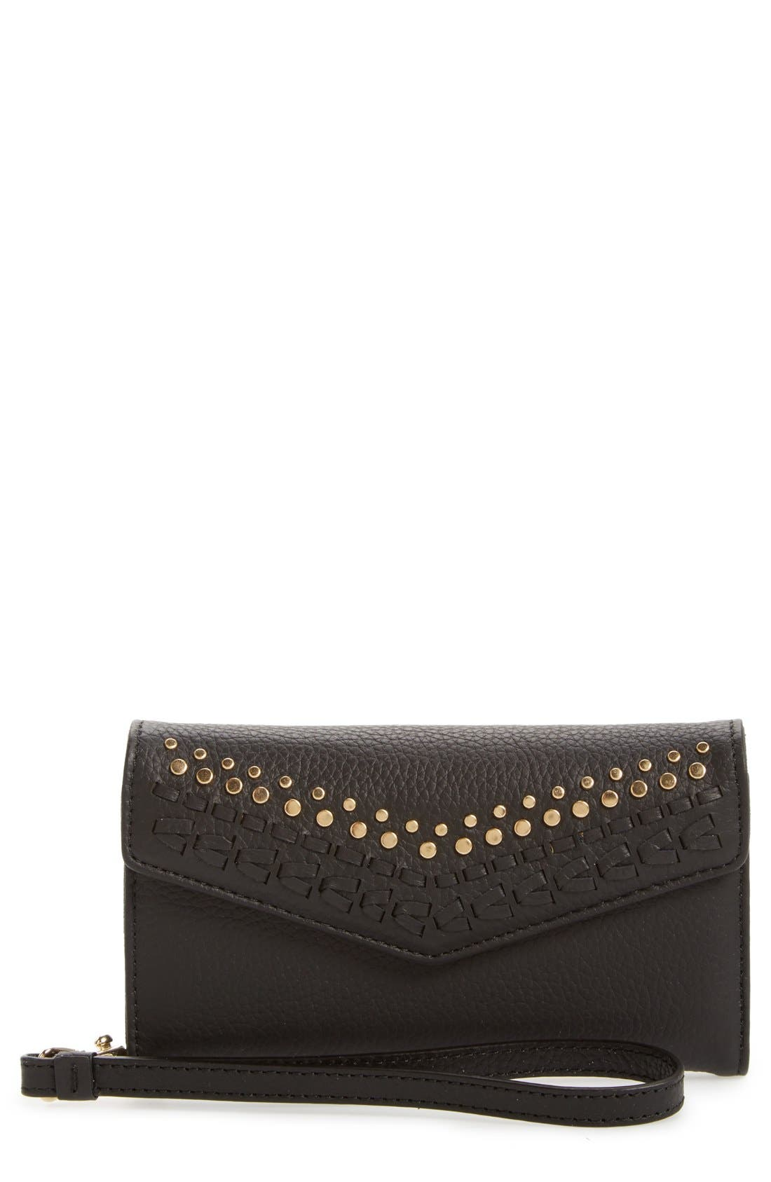 Alternate Image 1 Selected - Rebecca Minkoff Whipstitch iPhone 7 Wristlet