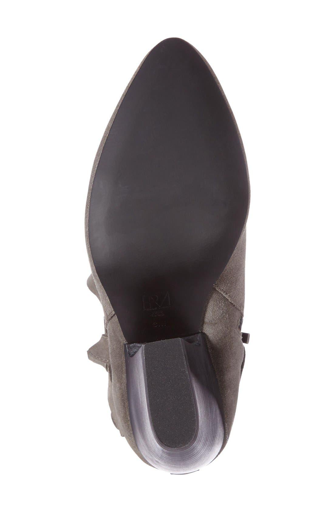 Jax Block Heel Bootie,                             Alternate thumbnail 4, color,                             Mouse Grey Leather