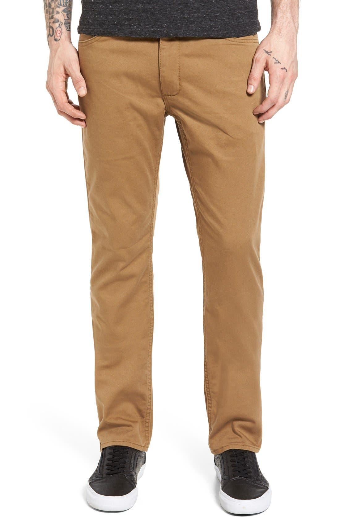V56 Covina II Slim Fit Pants,                         Main,                         color, Dirt