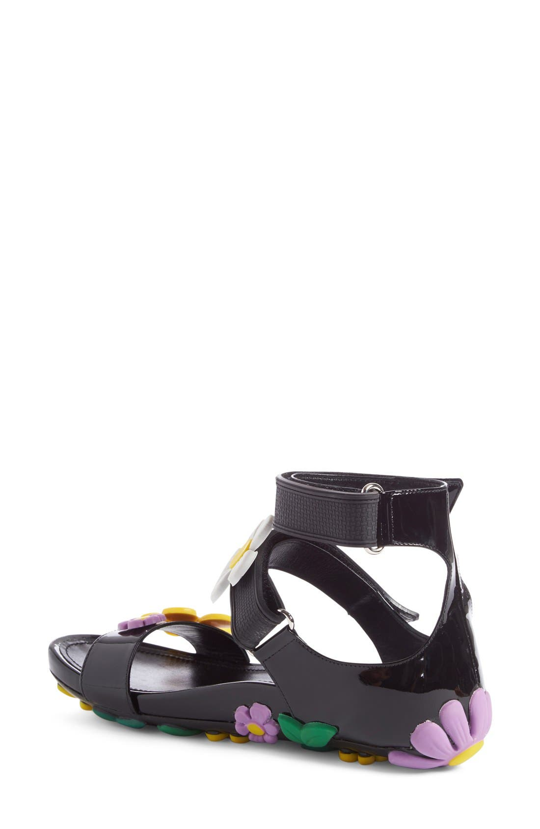 Alternate Image 2  - Prada Floral Triple Band Sandal (Women)