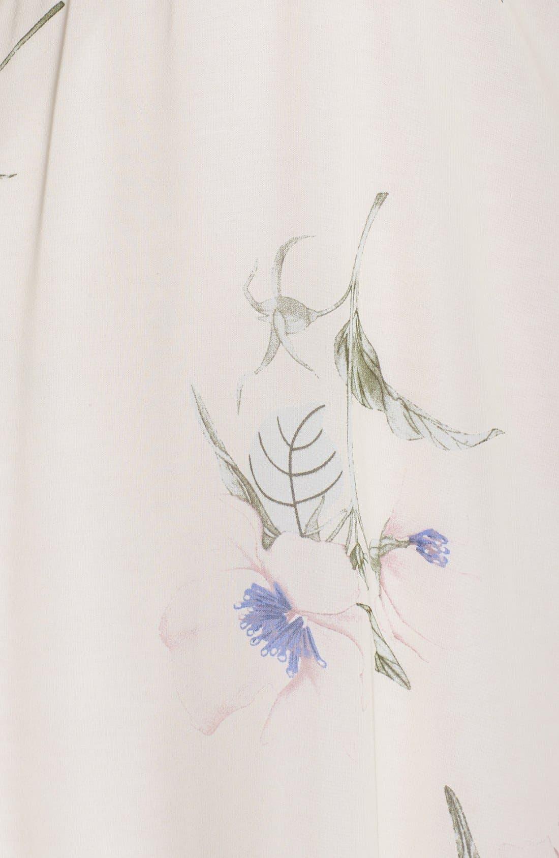 Alternate Image 6  - Fraiche by J Floral Print Chiffon Blouson Dress