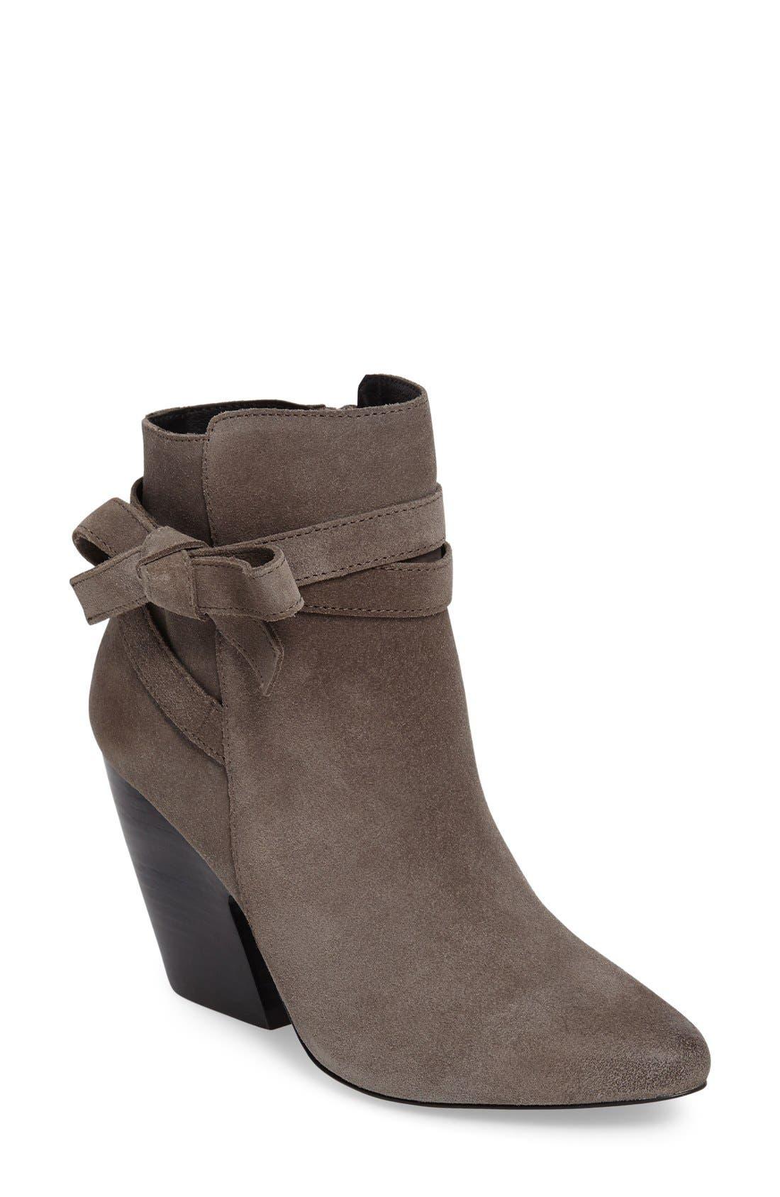 Jax Block Heel Bootie,                         Main,                         color, Mouse Grey Leather