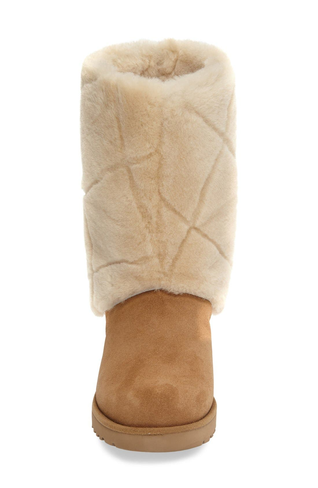 Alternate Image 3  - UGG® Ariella Luxe Diamond Genuine Shearling Boot (Women)