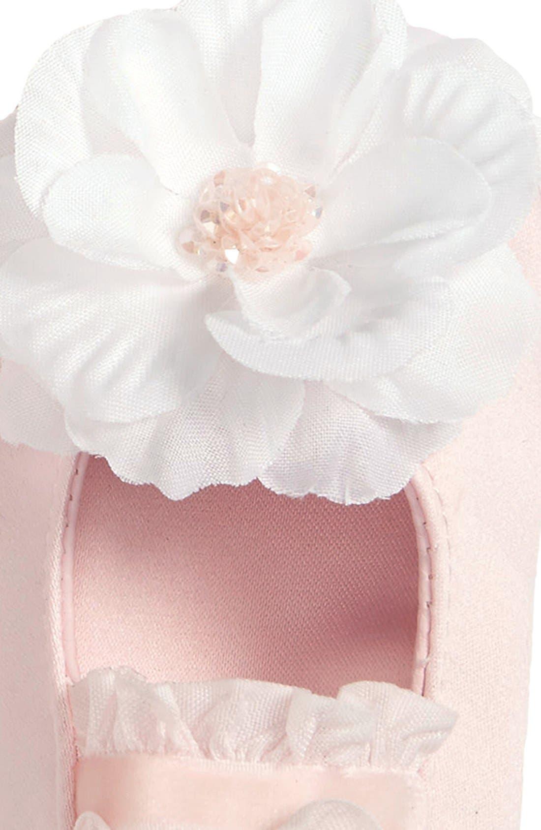 Alternate Image 2  - PLH Bows & Laces Headband & Shoes Gift Set (Infant)