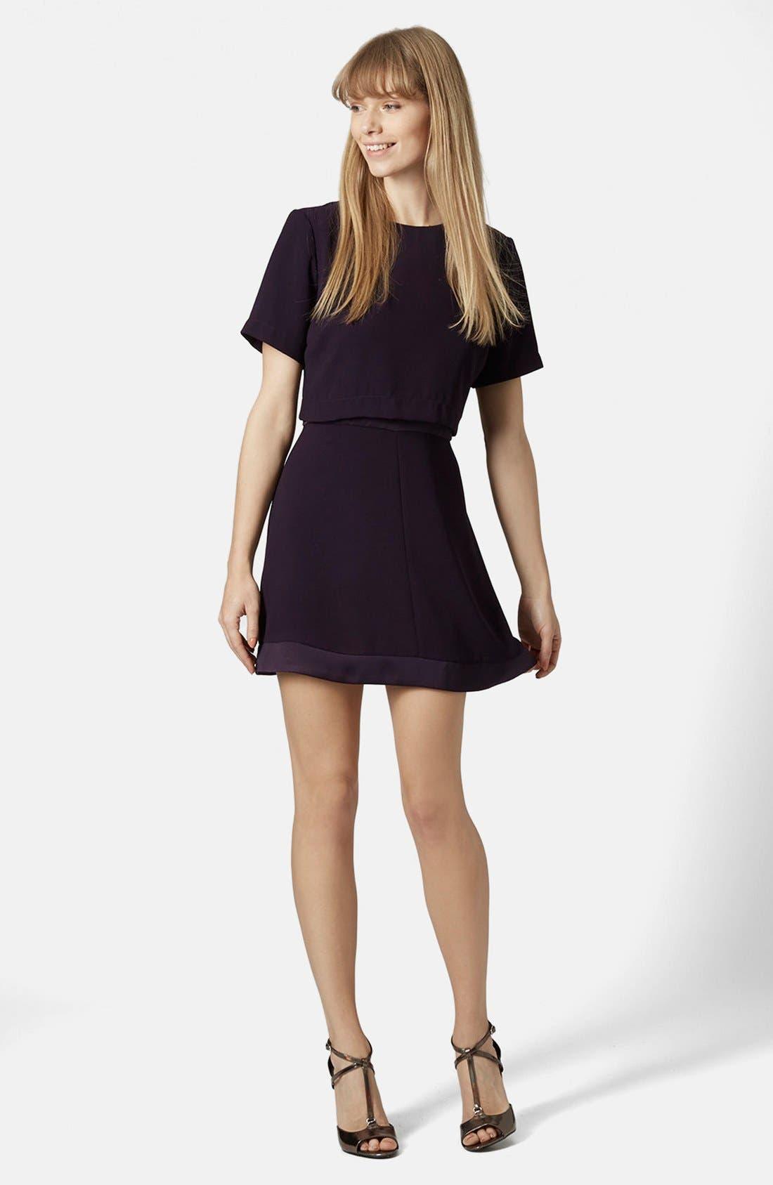 Alternate Image 5  - Topshop Satin Trim Overlay Dress