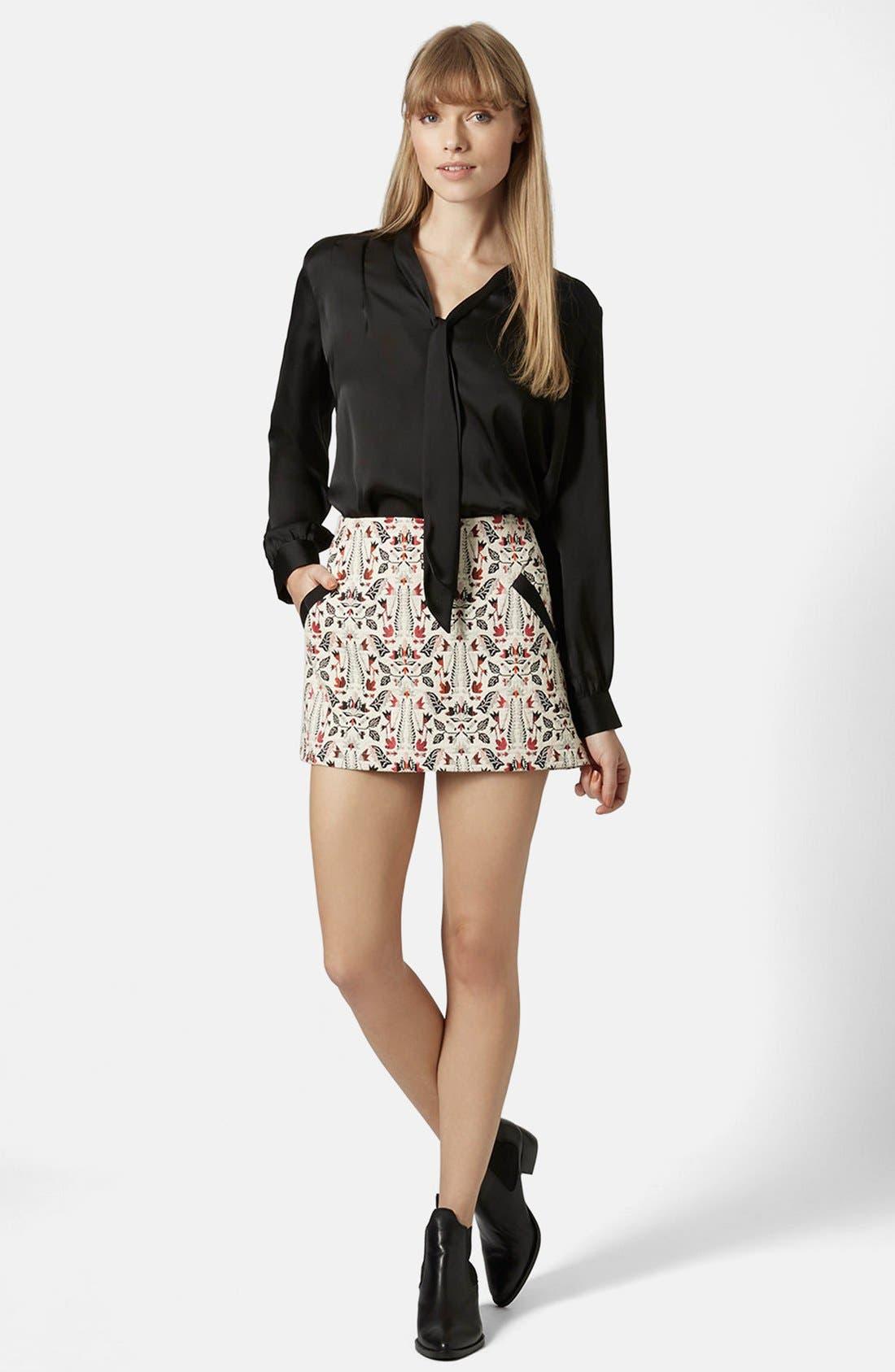 Alternate Image 5  - Topshop Jacquard Miniskirt