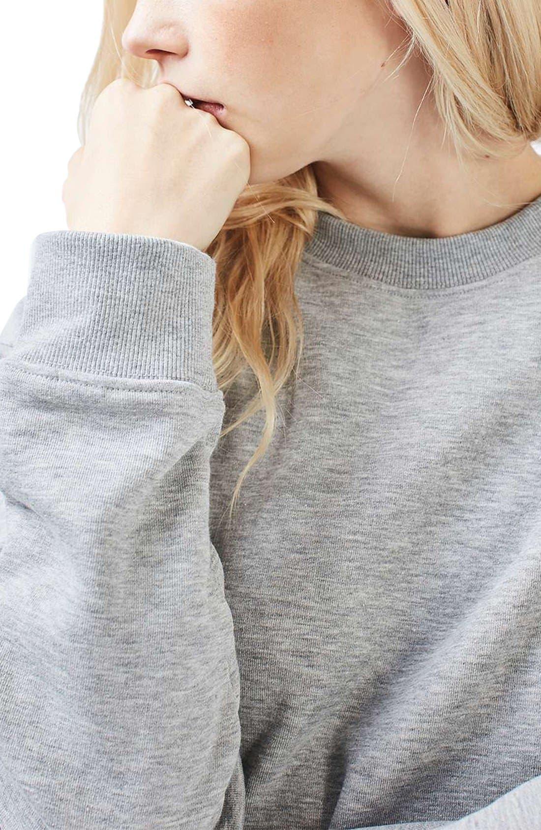 Alternate Image 5  - Topshop Sweatshirt Tunic