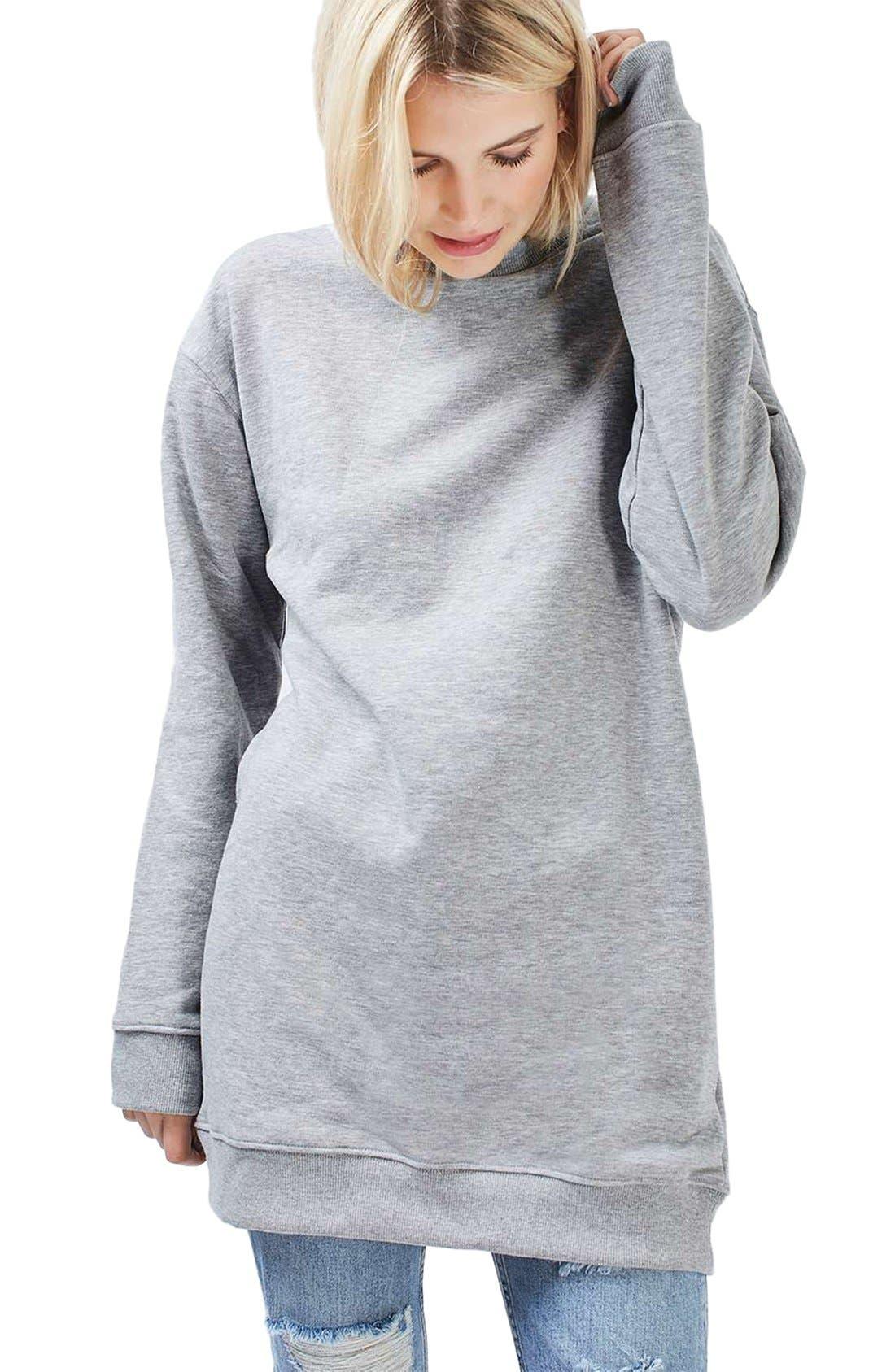 Alternate Image 1 Selected - Topshop Sweatshirt Tunic