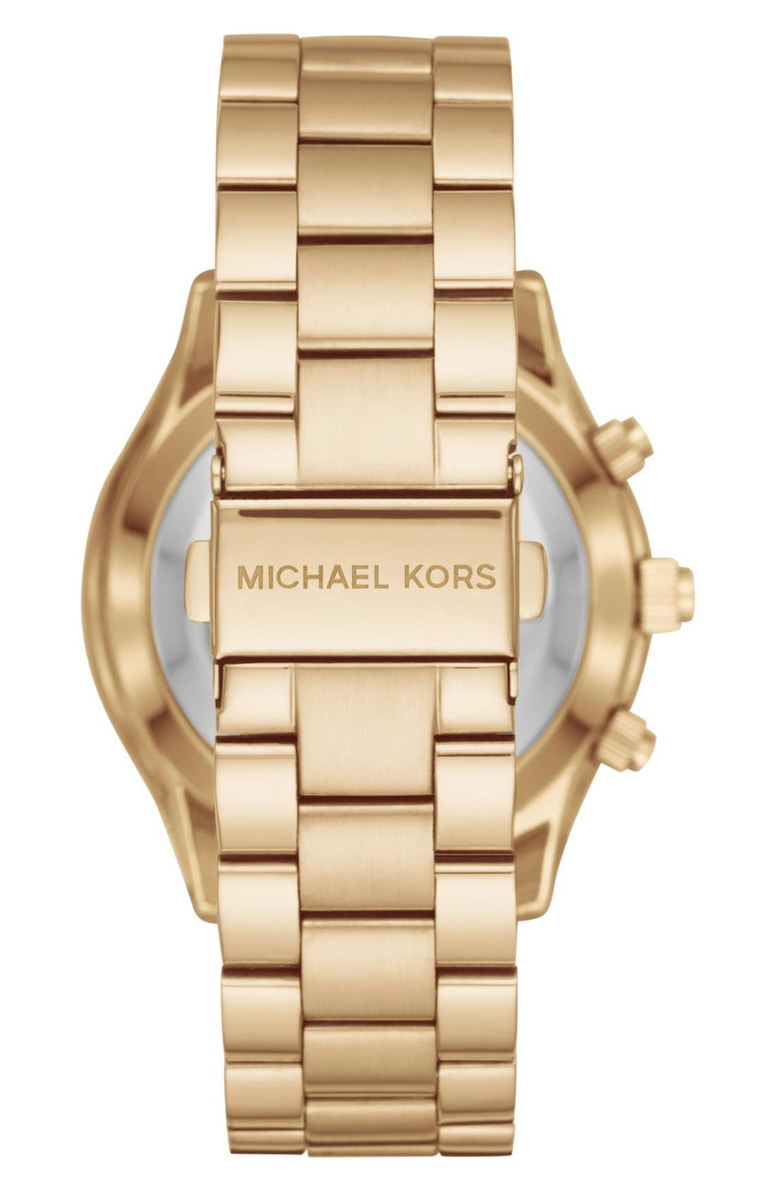 MICHAEL Michael Kors Slim Runway Smart Watch, 42mm,                             Alternate thumbnail 3, color,                             Gold