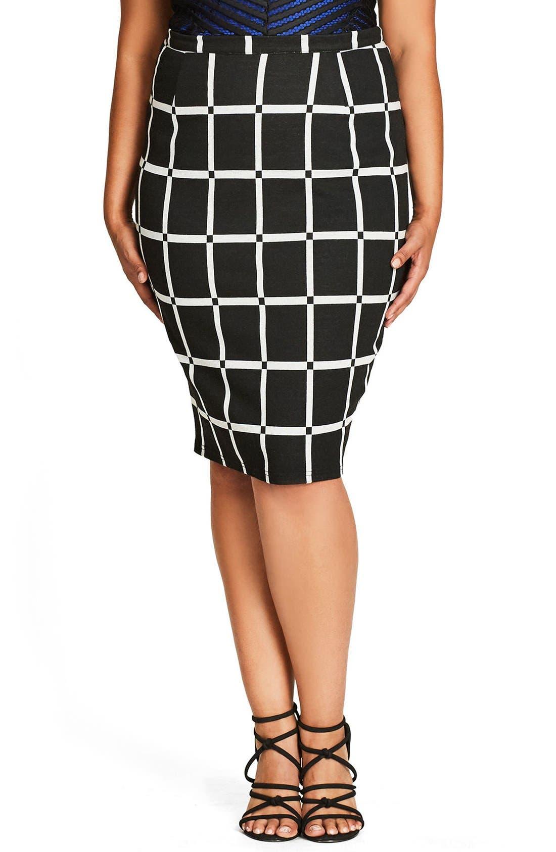 City Chic Vintage Chic Pencil Skirt (Plus Size)