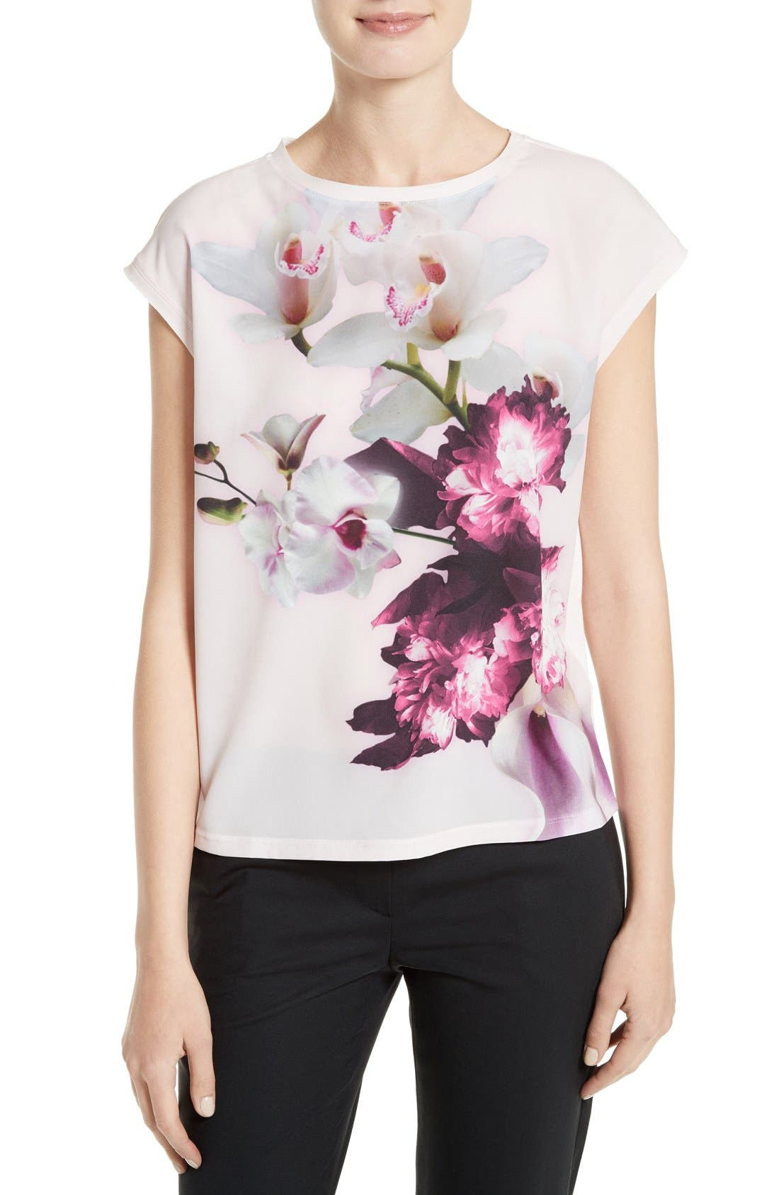 Alternate Image 1 Selected - Ted Baker London 'Cosita' Floral Print Tee