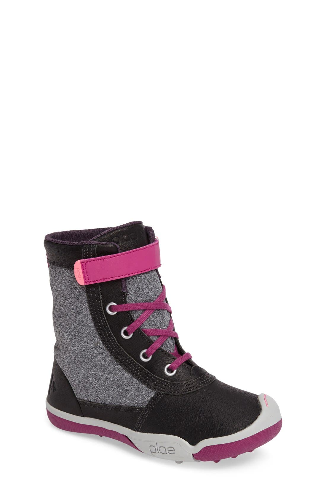 'Noel Customiz' Boot,                             Main thumbnail 1, color,                             Black/ Grey Leather