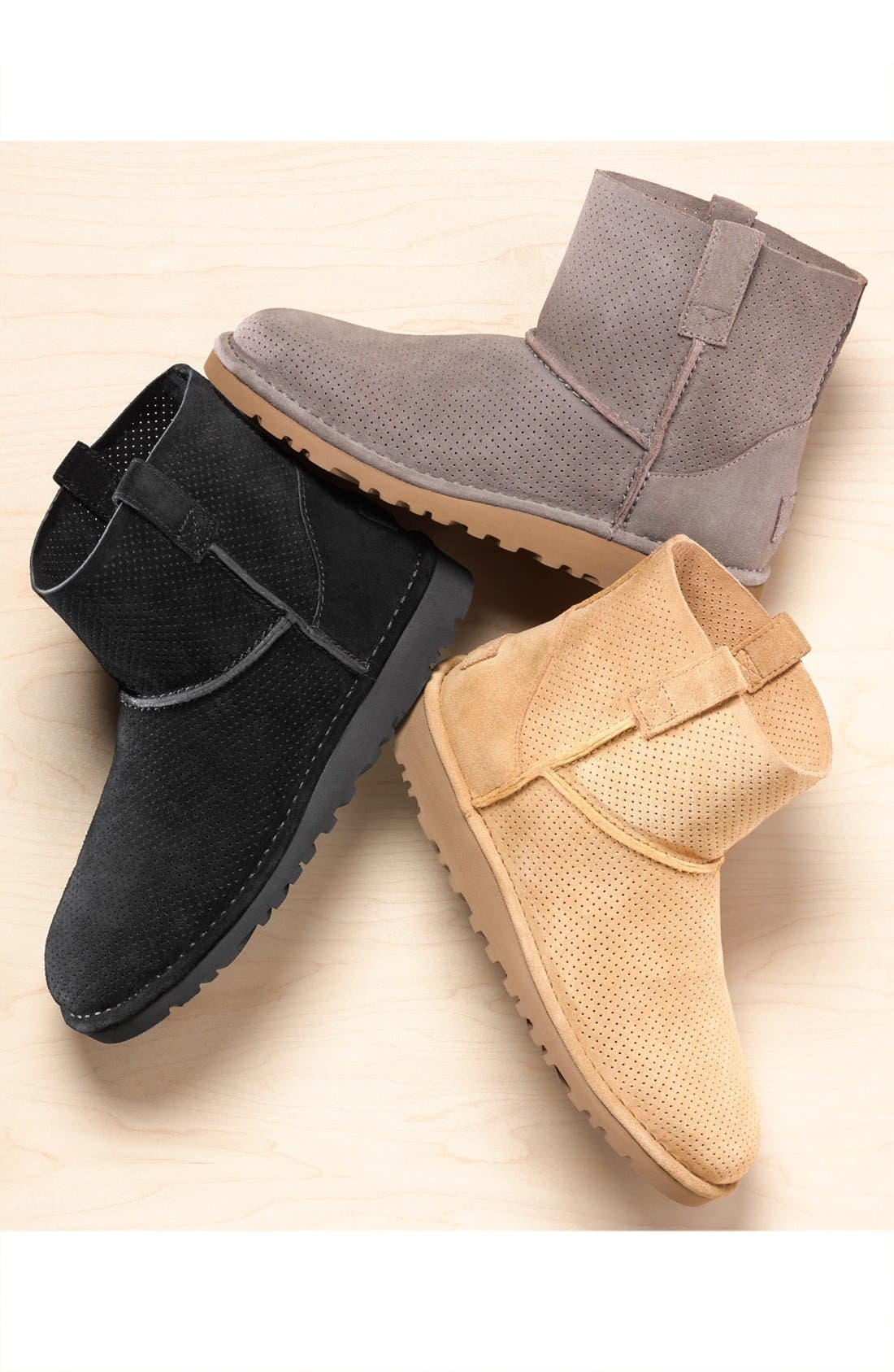 Alternate Image 6  - UGG® Classic Unlined Mini Perf Boot (Women)