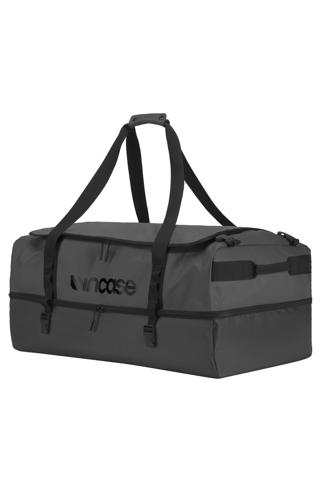TRACTO Extra Large Split Convertible Duffel Bag,                             Alternate thumbnail 4, color,                             Black