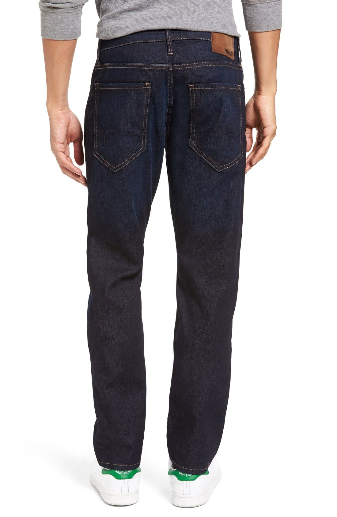 Marcus Slim Straight Leg Jeans,                             Alternate thumbnail 2, color,                             Rinse Brushed Williamsburg