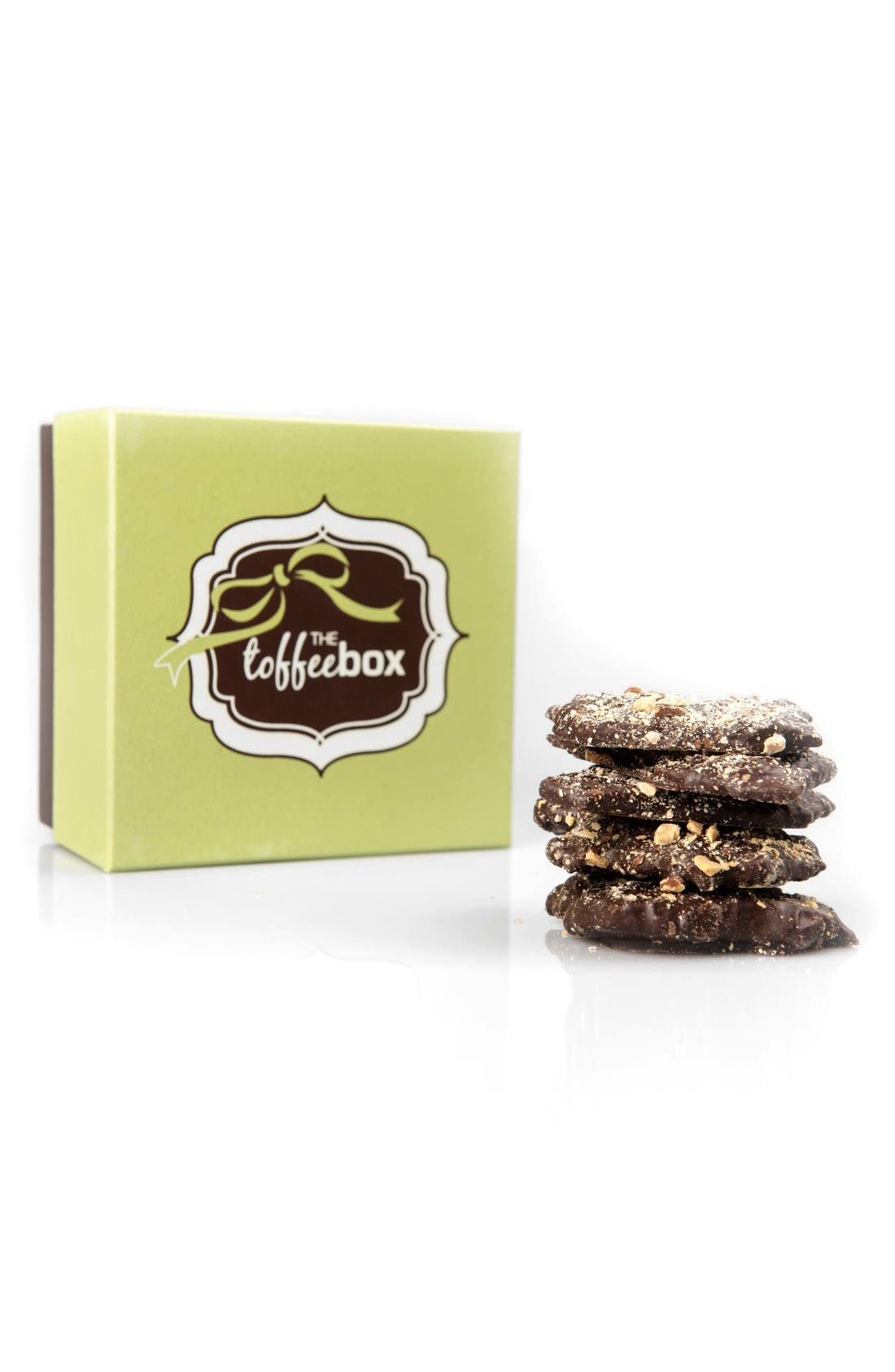 Dark Chocolate Almond Toffee,                         Main,                         color, White