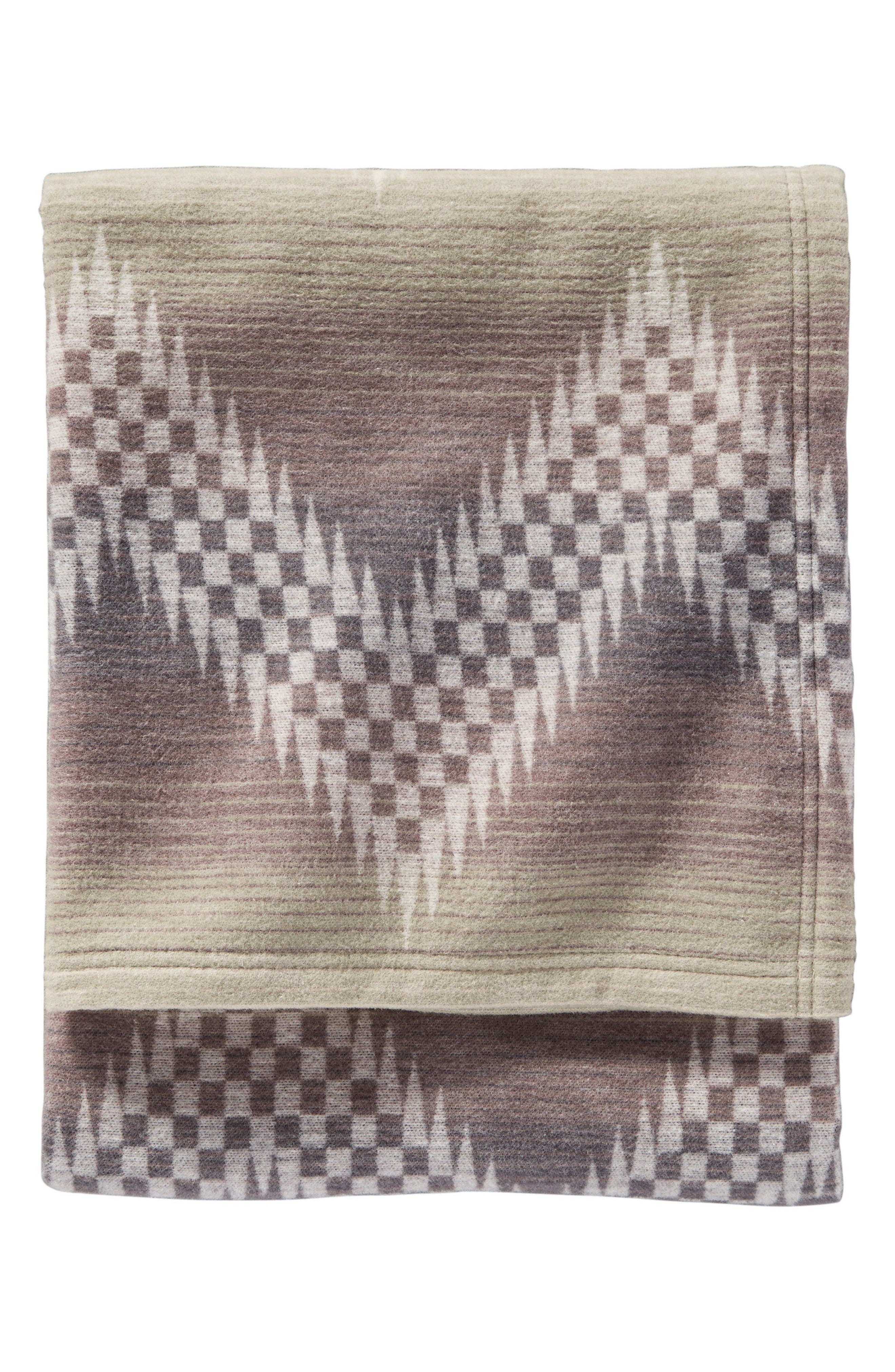 Willow Basket Throw Blanket,                         Main,                         color, Fog