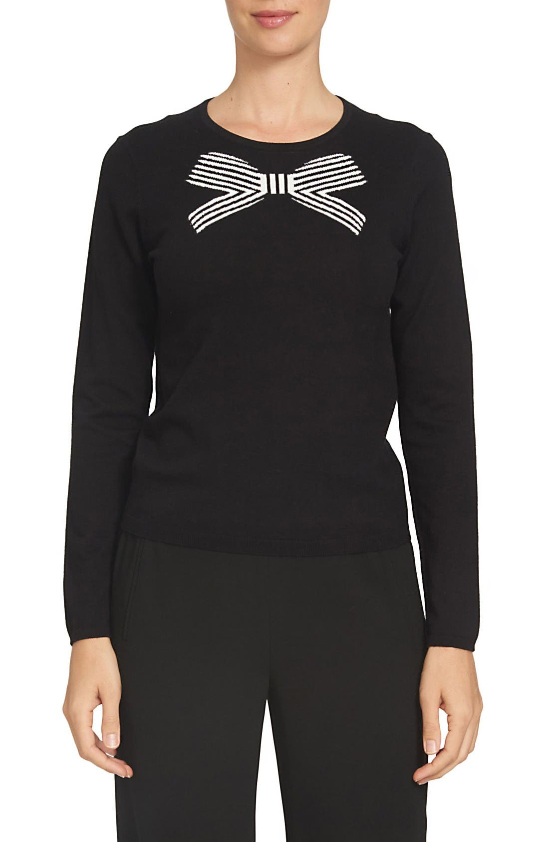 Alternate Image 1 Selected - CeCe Bow Intarsia Sweater