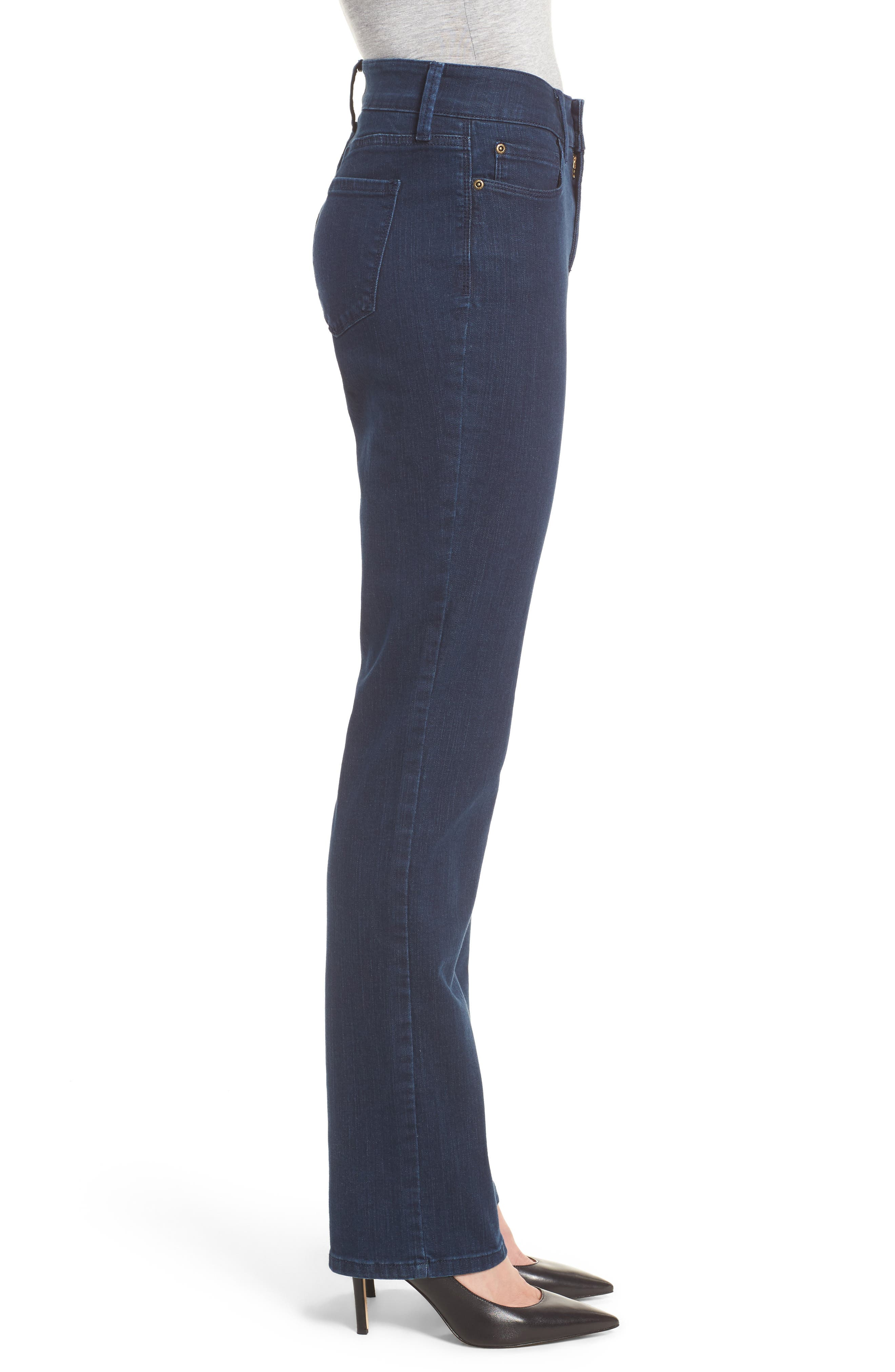 Alternate Image 3  - NYDJ Marilyn Stretch Straight Leg Jeans (Highpoint)