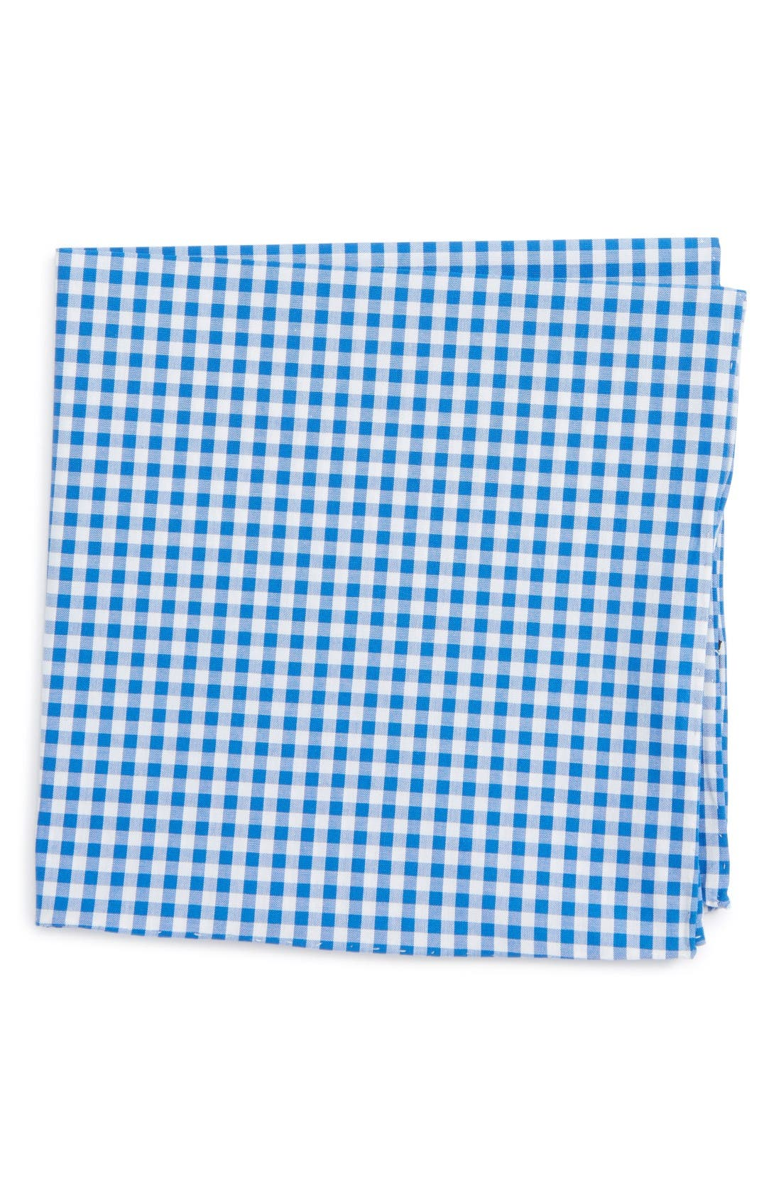 THE TIE BAR Cotton Gingham Pocket Square