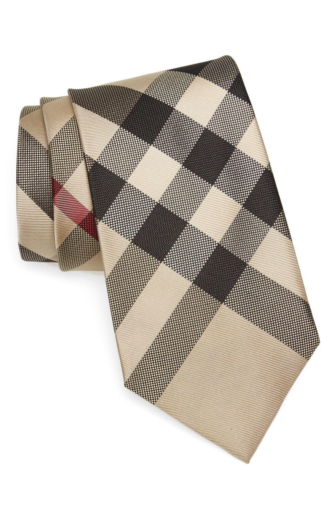 Clinton Check Silk Tie,                         Main,                         color, New Classic