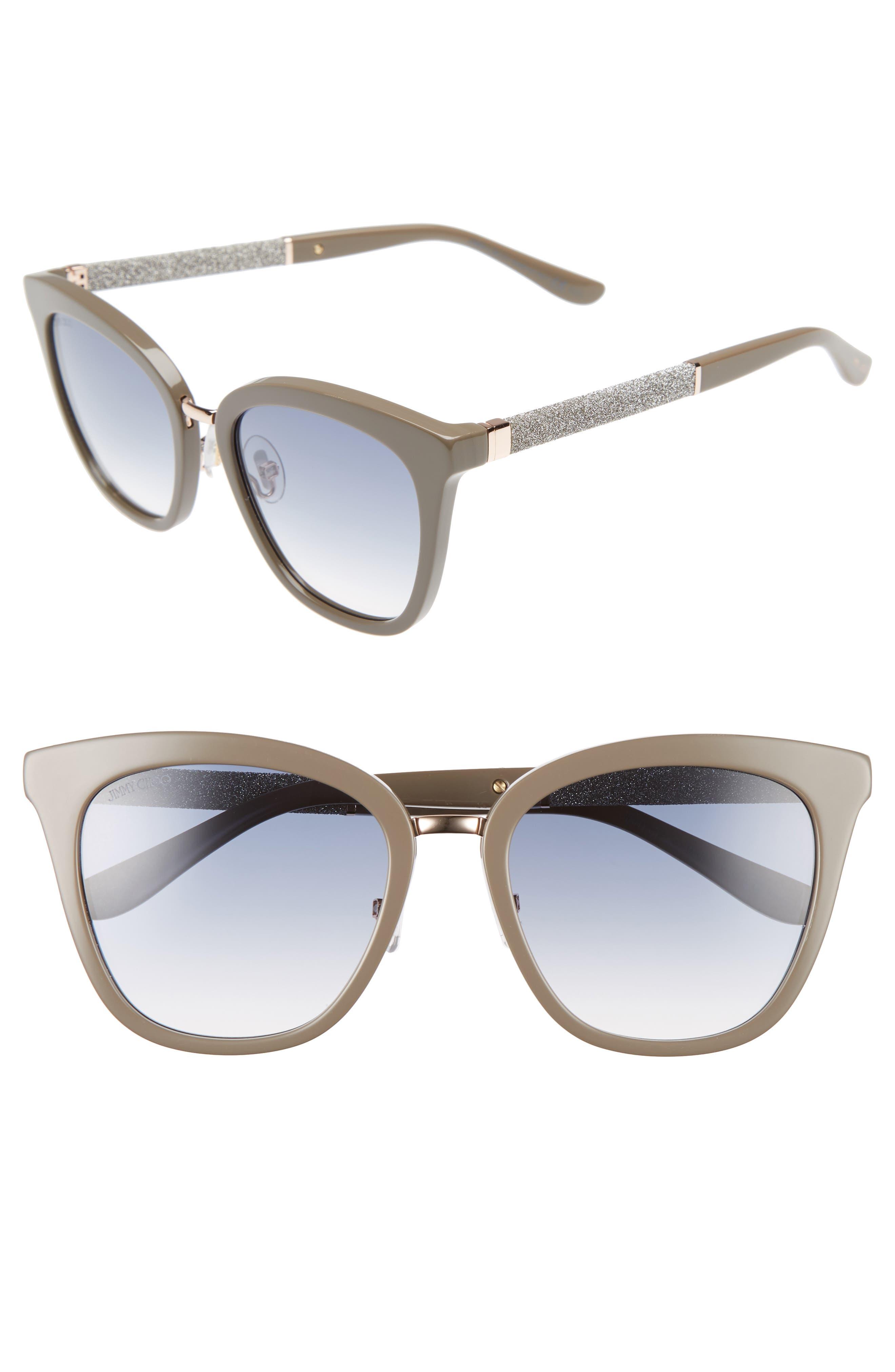 Main Image - Jimmy Choo Fabry 53mm Sunglasses