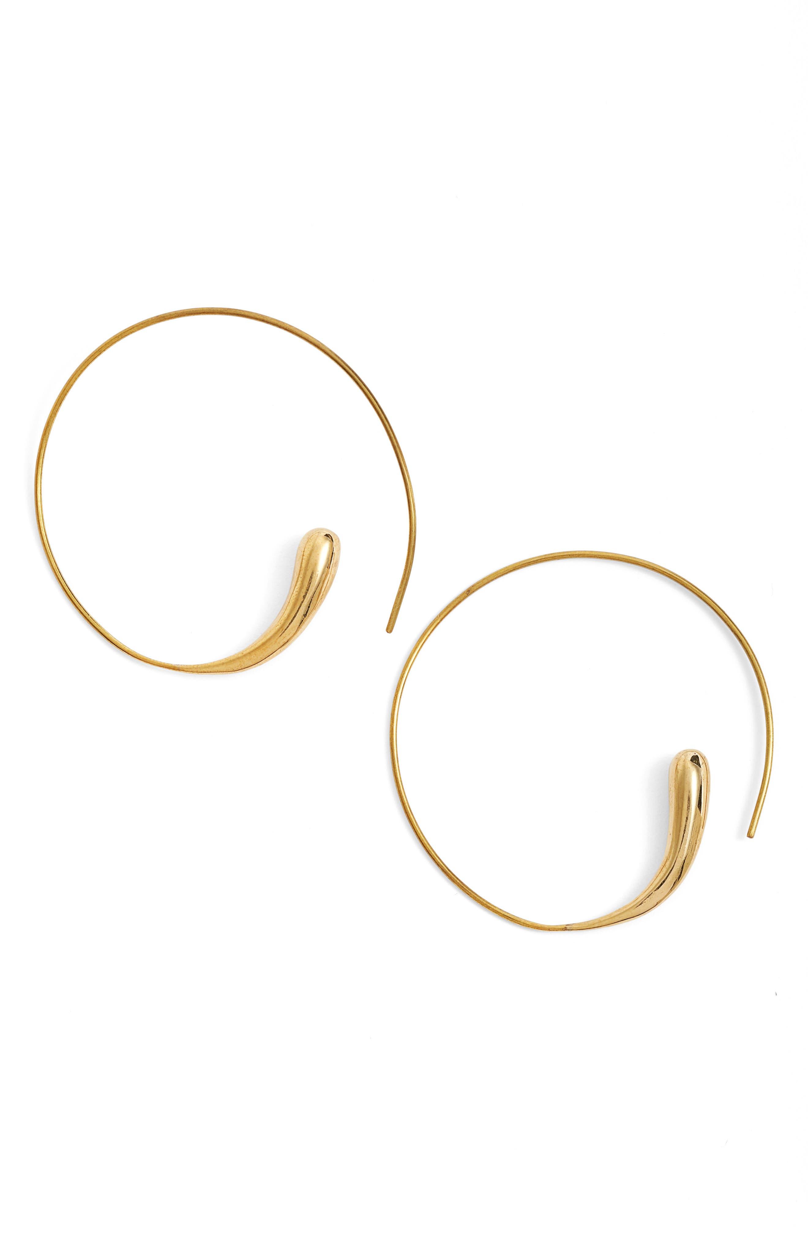 Threader Hoops,                         Main,                         color, Brass