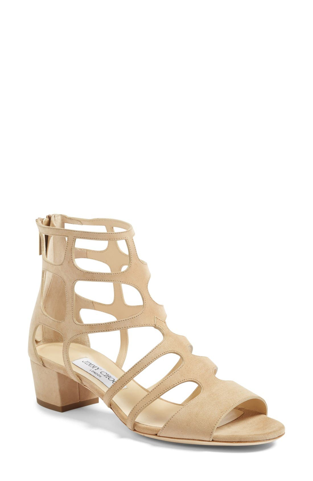 Alternate Image 1 Selected - Jimmy Choo Ren Block Heel Sandal (Women)