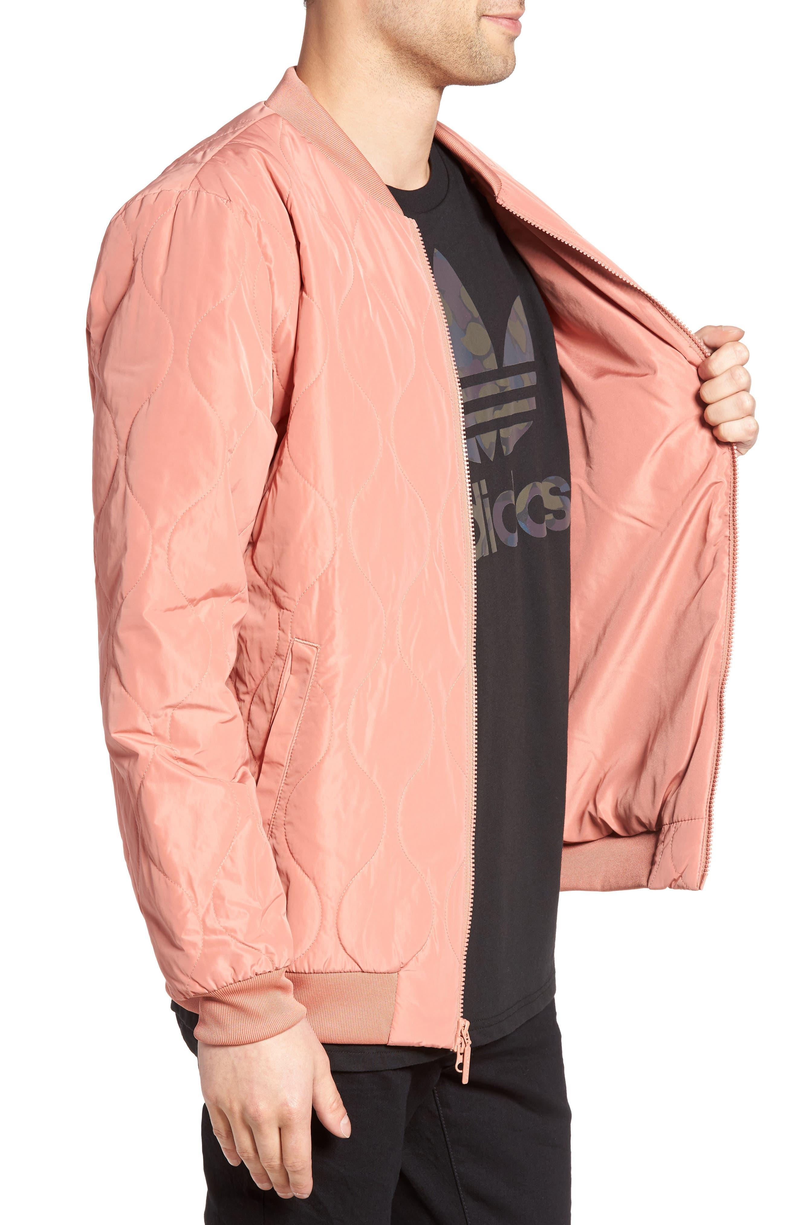 Alternate Image 3  - adidas Originals Quilted Bomber Jacket
