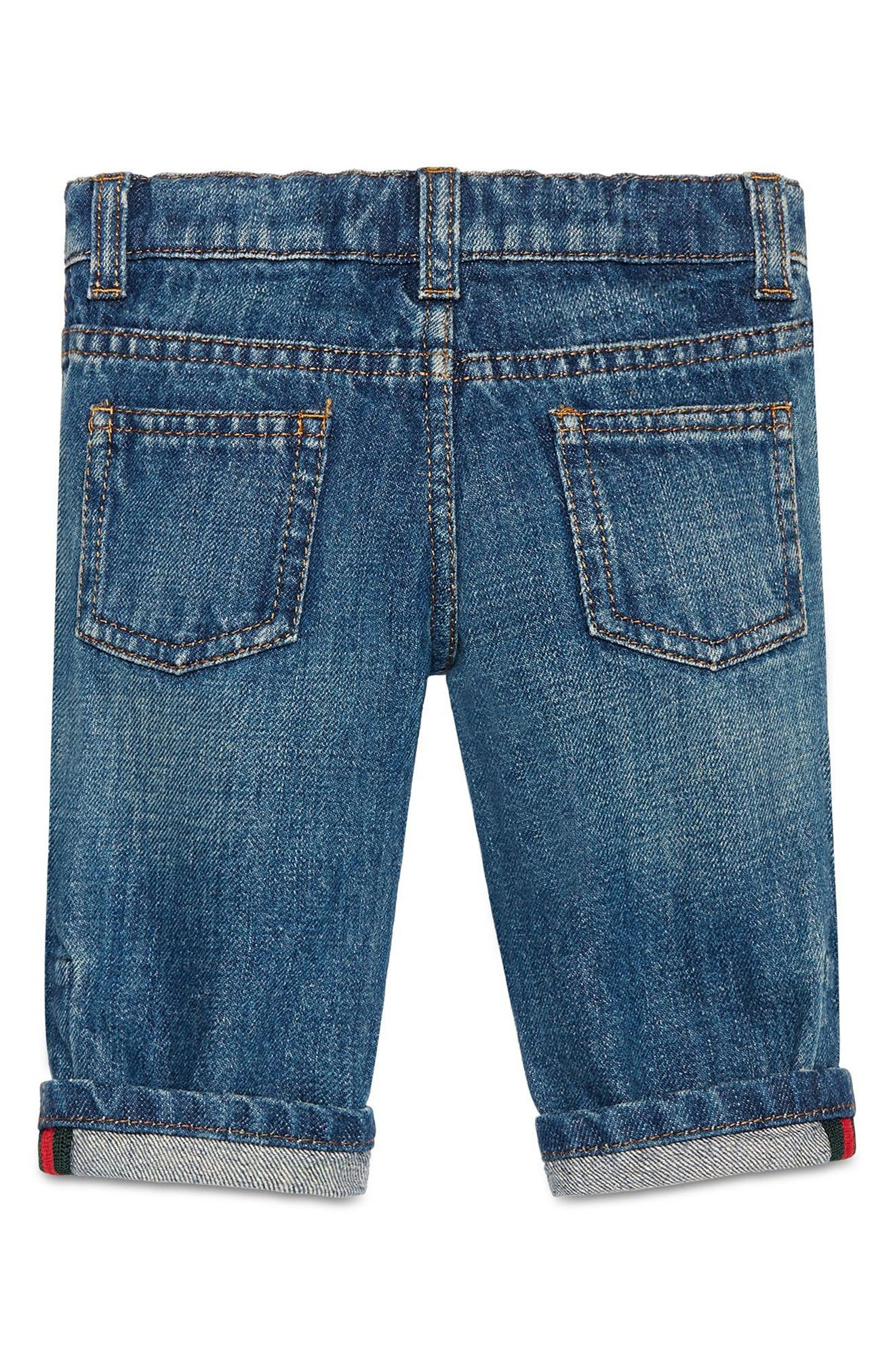 Alternate Image 2  - Gucci Straight Leg Jeans (Baby Boys & Toddler Boys)