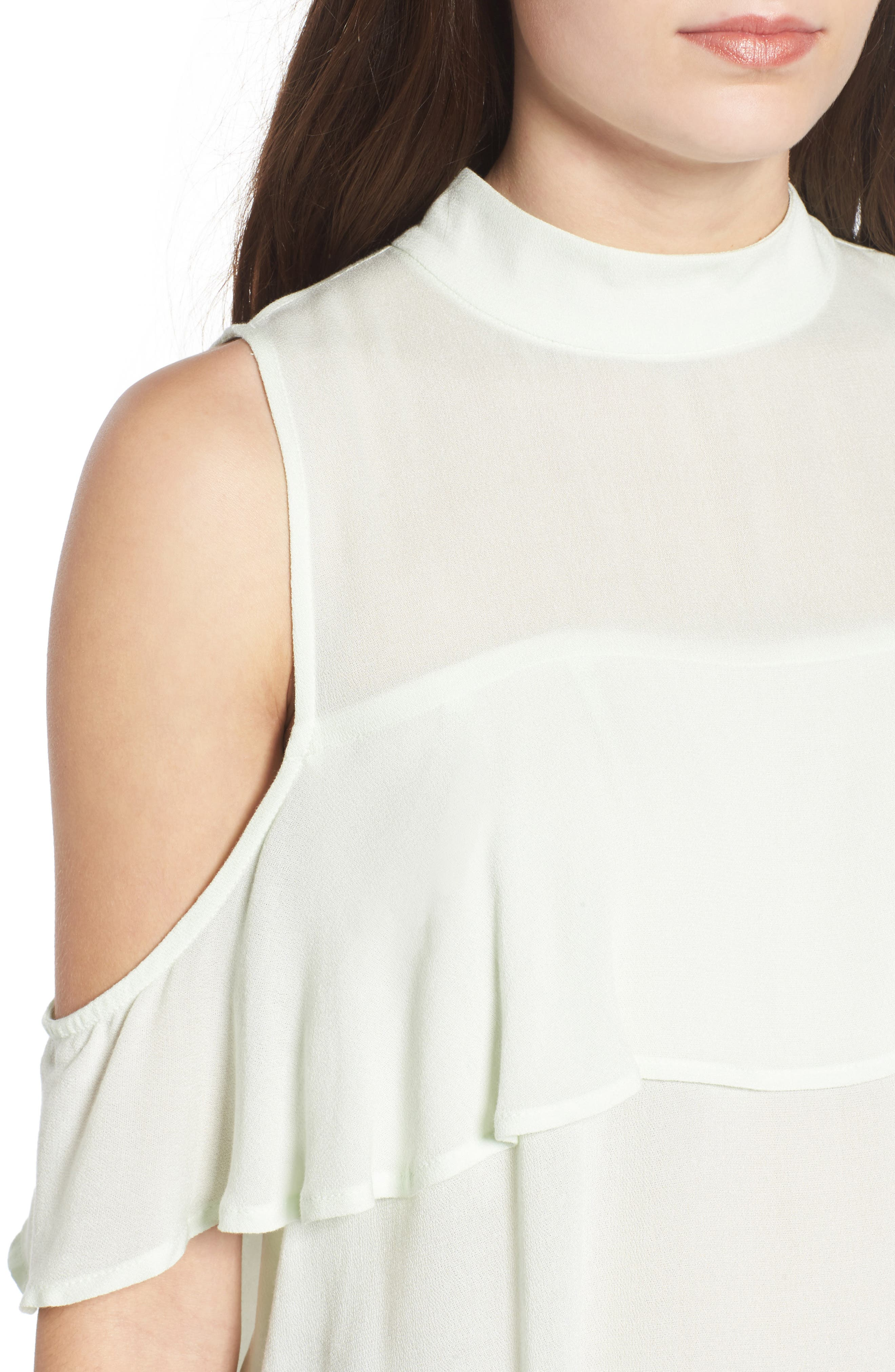 Alternate Image 4  - BP. Ruffle Cold Shoulder Top