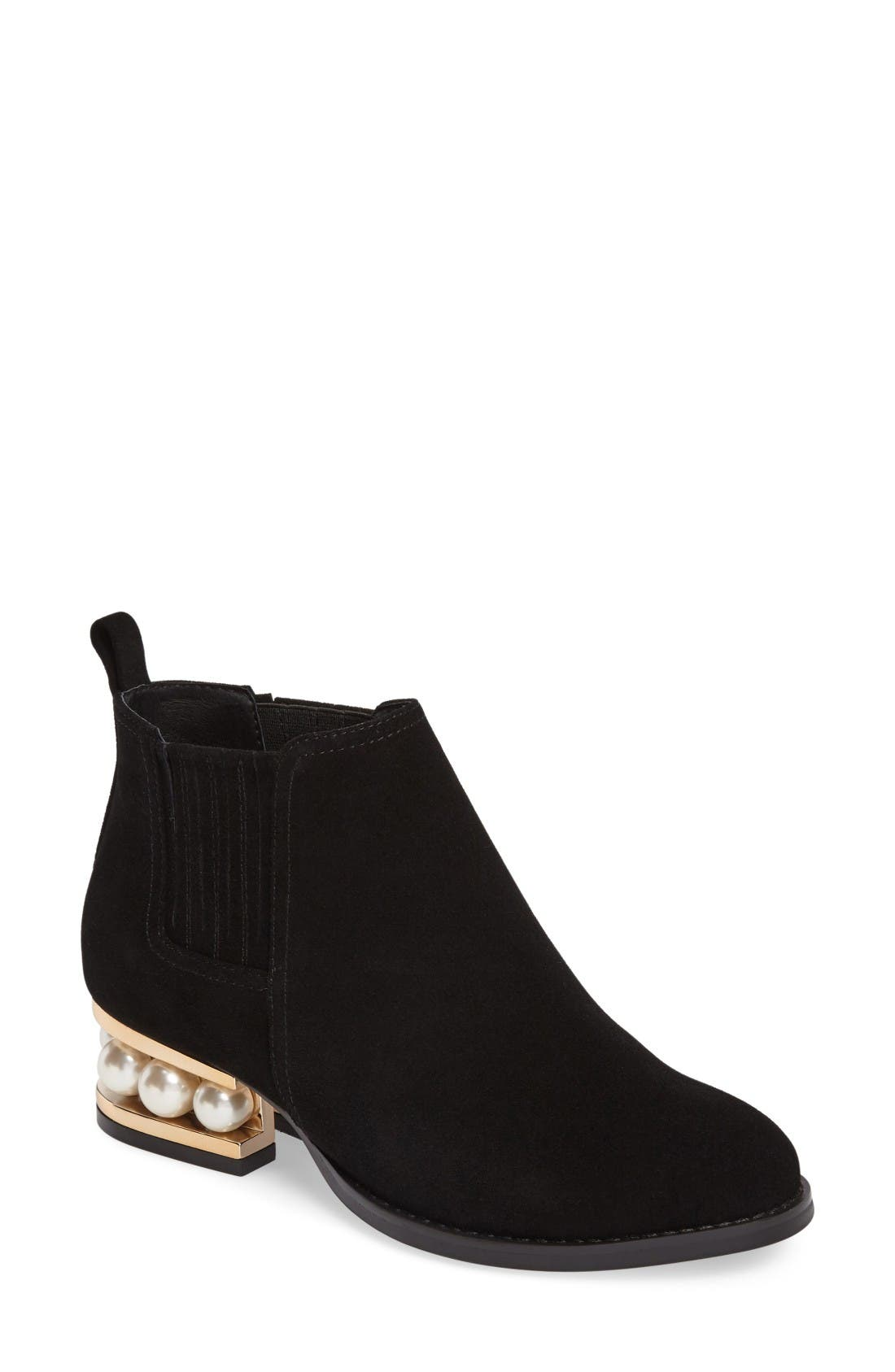 Alternate Image 1 Selected - Jeffrey Campbell Warr-MP Pearly Orbed Chelsea Boot (Women)