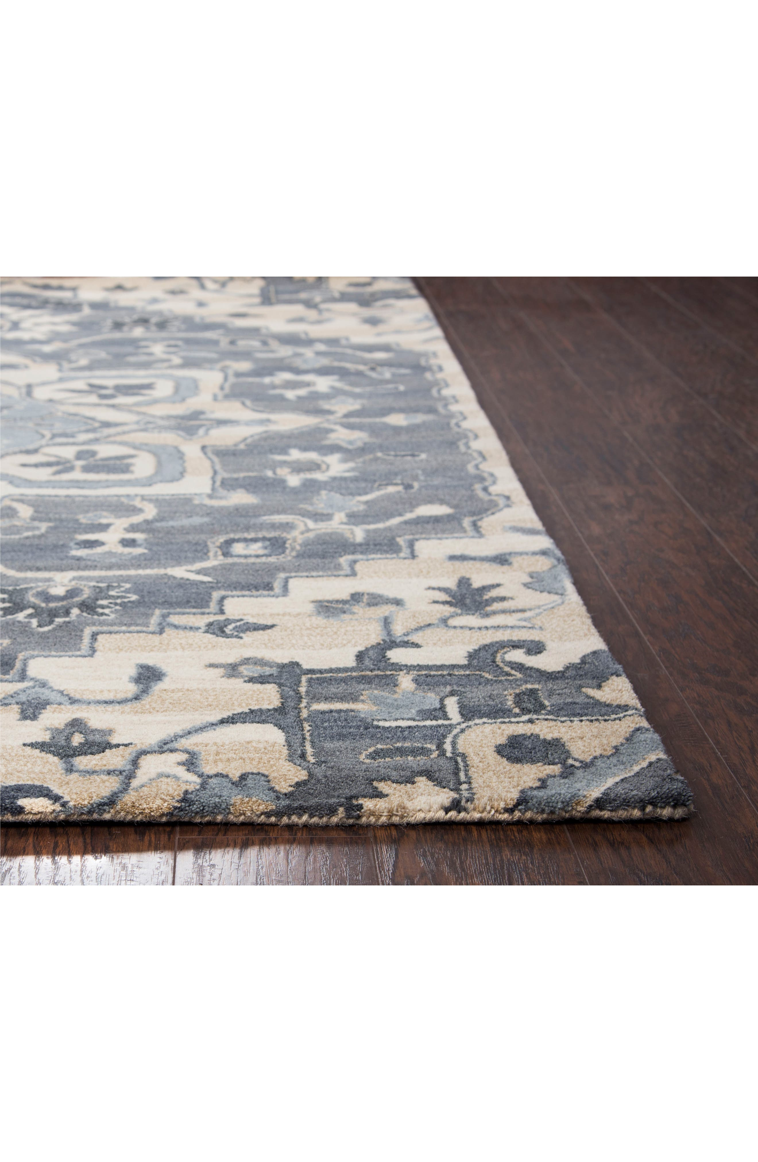 Veronica Hand Tufted Wool Rug,                             Alternate thumbnail 2, color,                             Blue