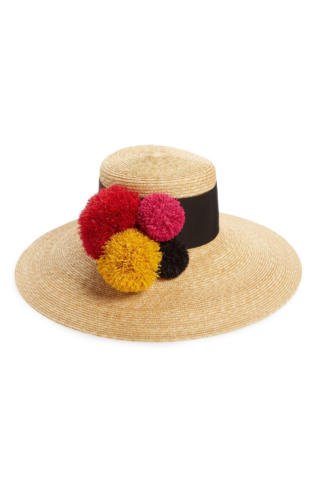 Alternate Image 1 Selected - Eugenia Kim Mirasol Pompom Straw Hat