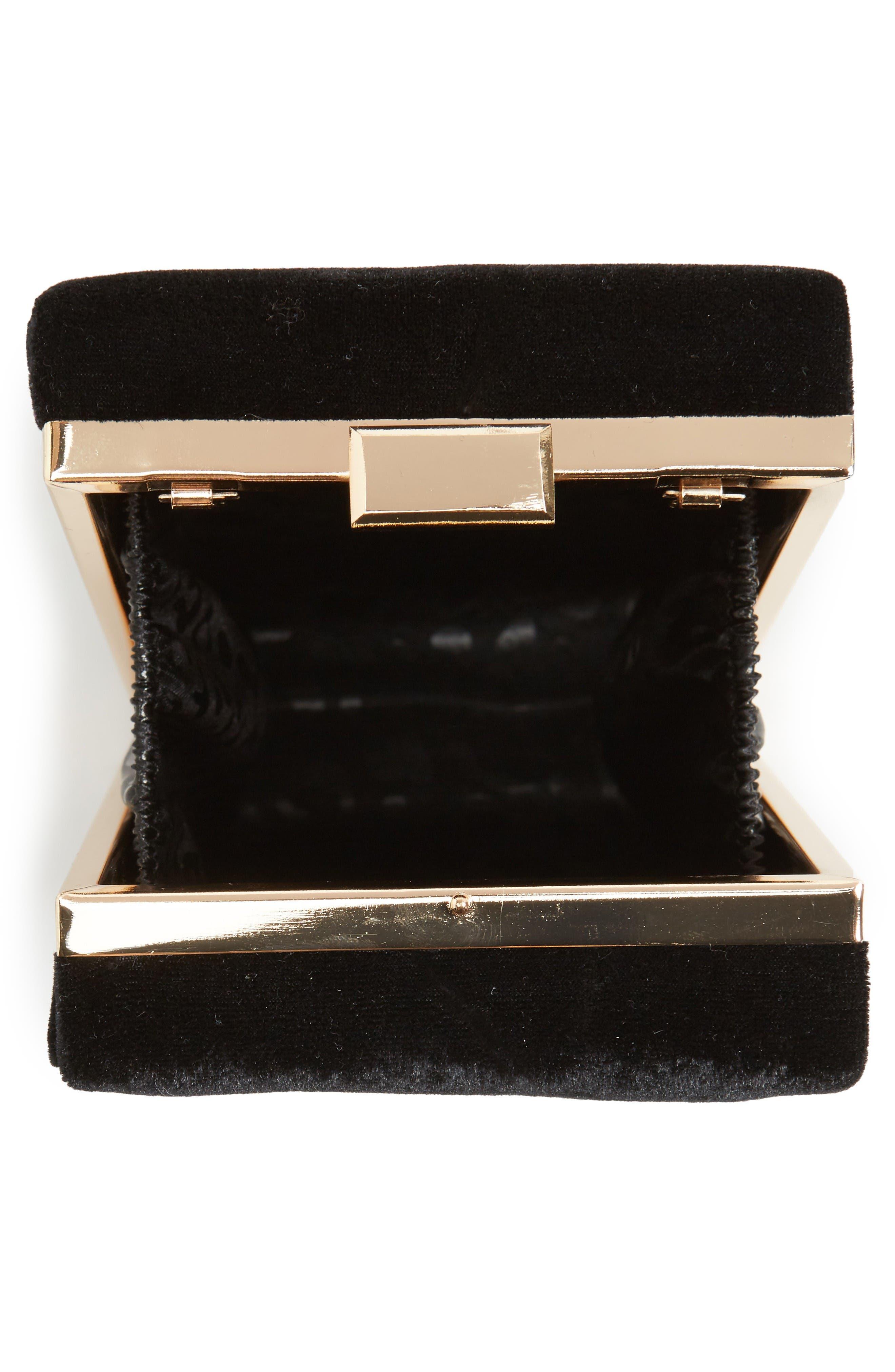 Alternate Image 4  - Leith Velvet Box Clutch
