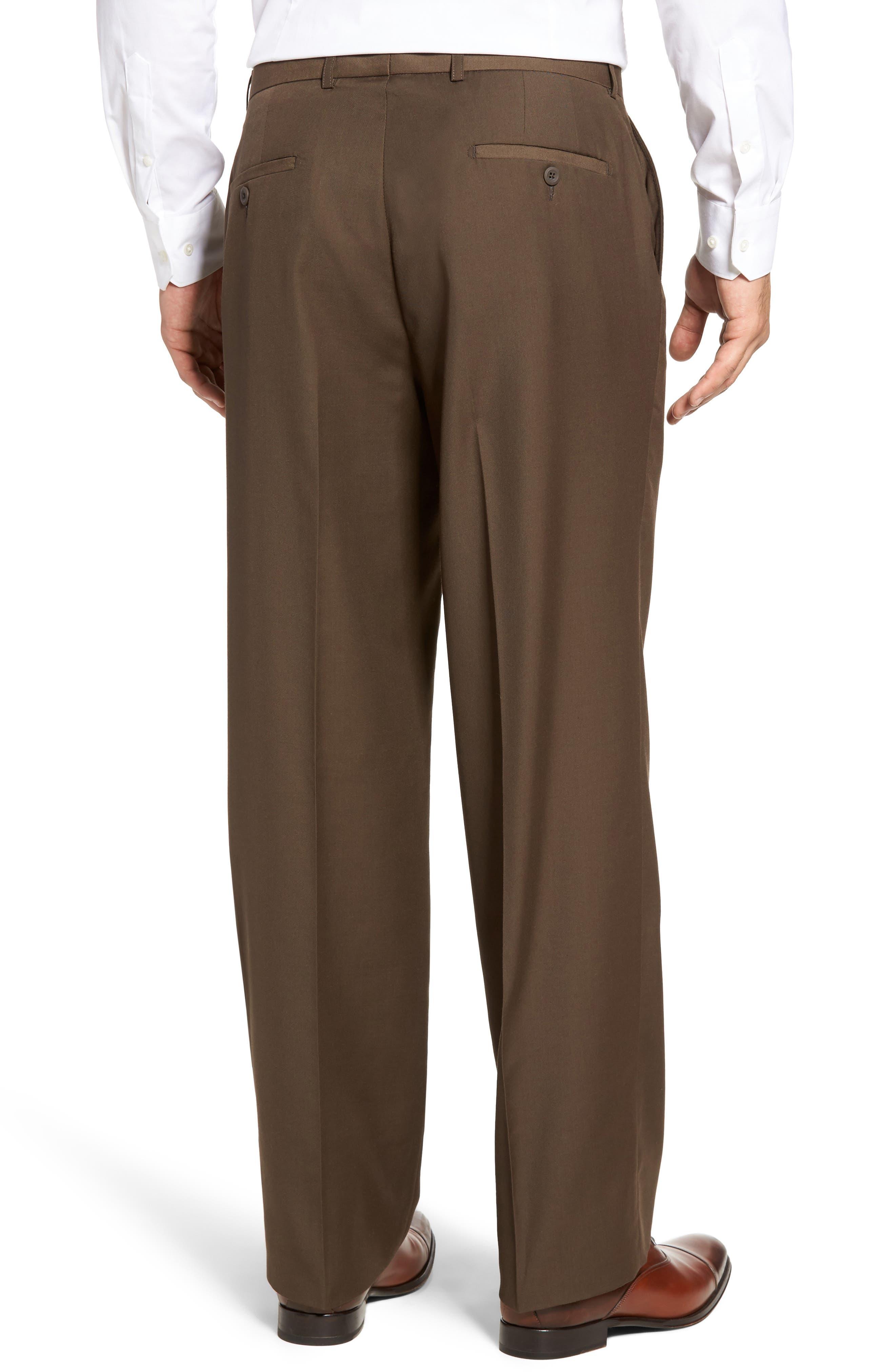 'Travel Genius - Hawk' Flat Front Pants,                             Alternate thumbnail 2, color,                             Brown