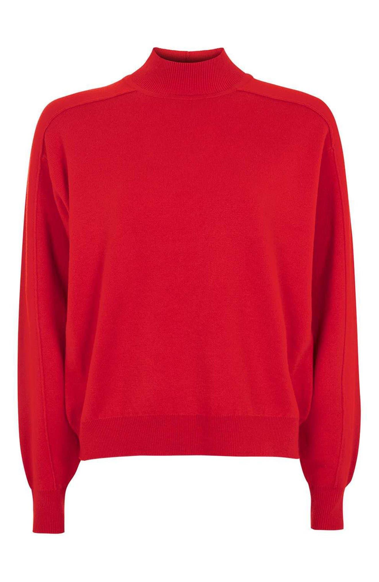 Alternate Image 5  - Topshop Mock Neck Sweater