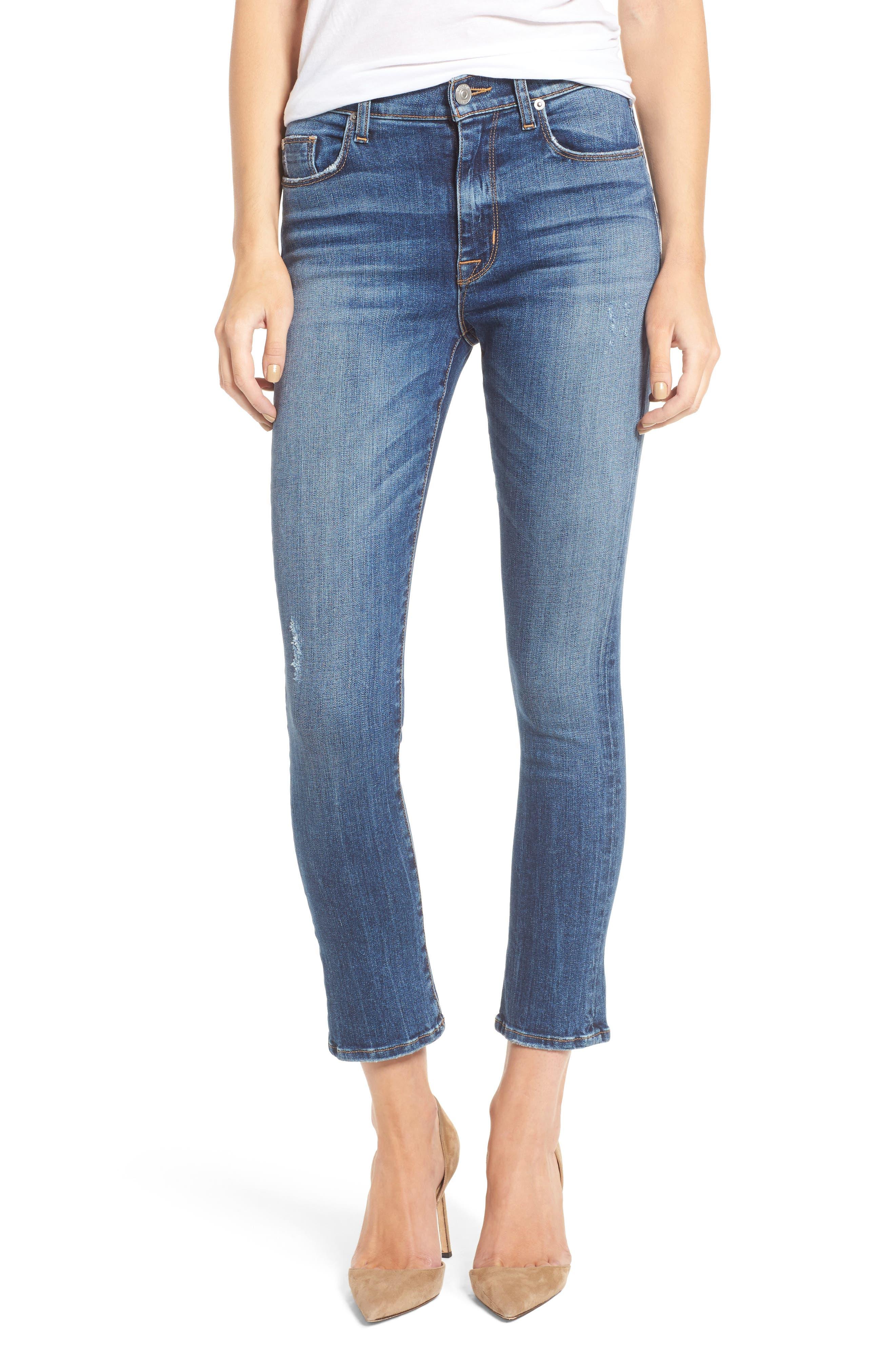 hudson jeans harper high waist crop flare jeans awakening